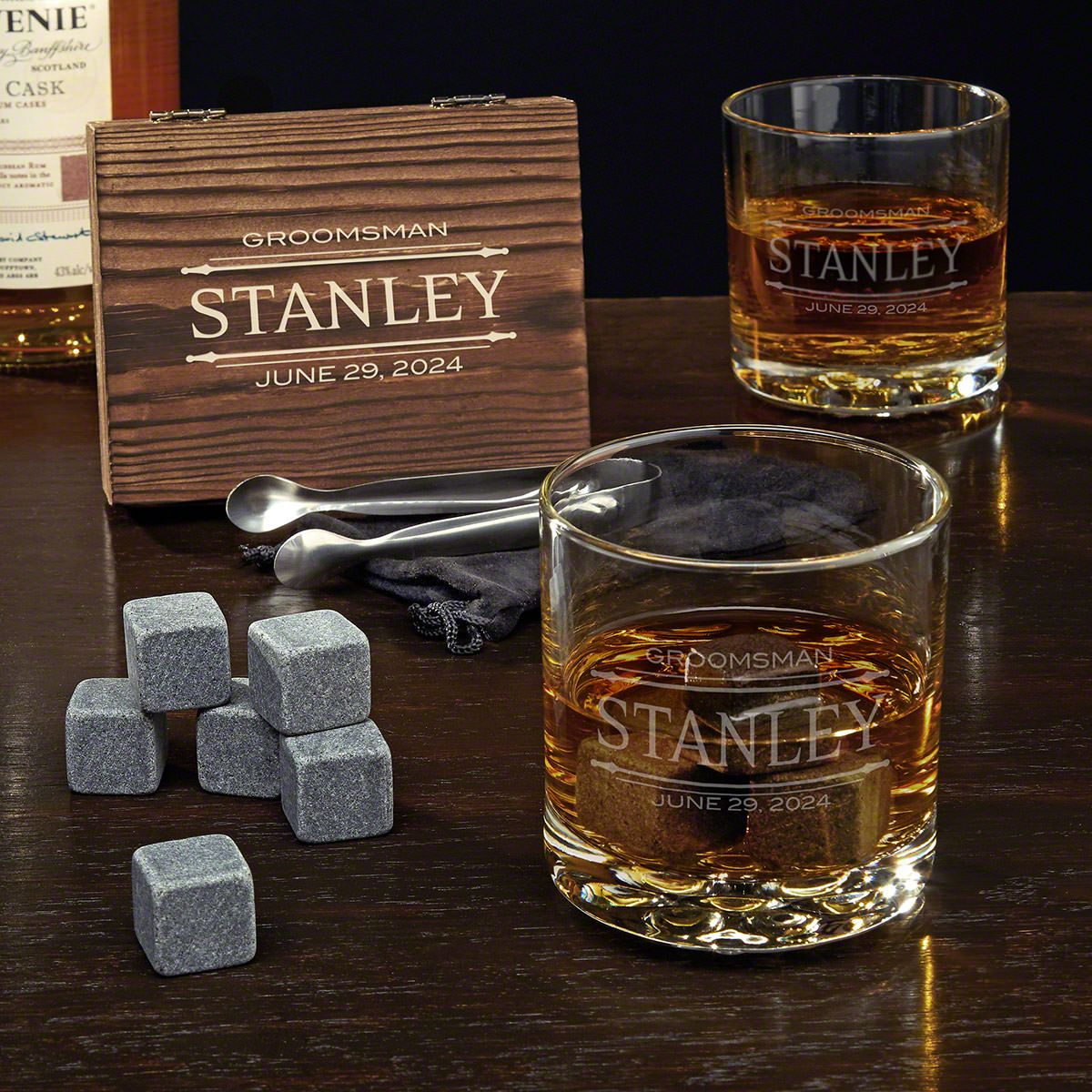 Stanford Personalized Whiskey Set - Gift for Groomsmen
