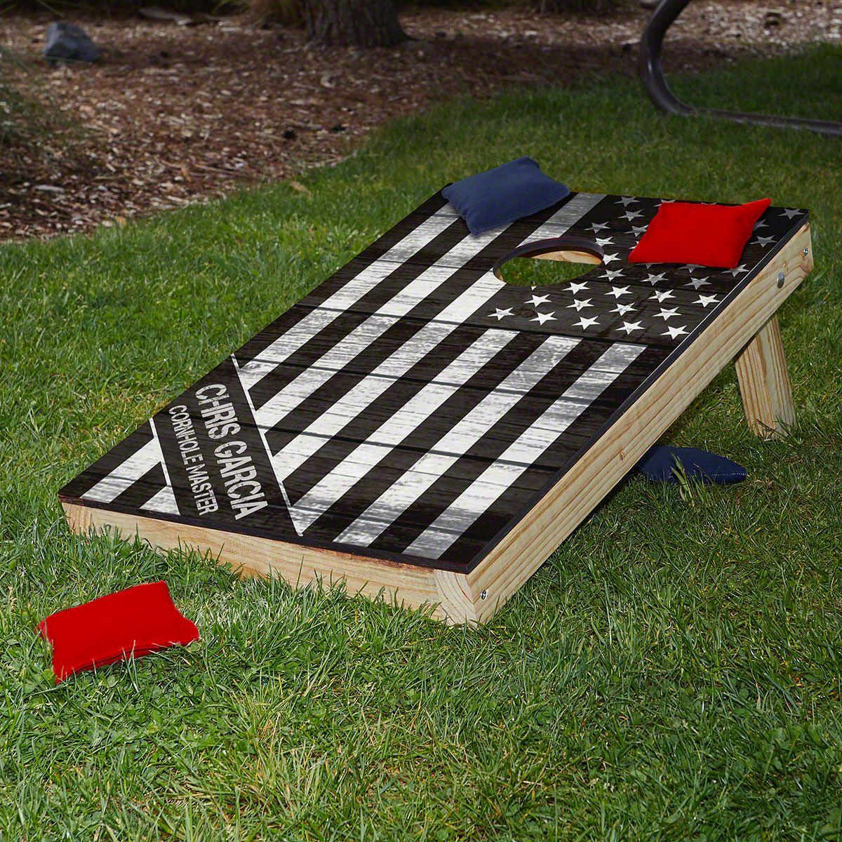 American Heroes Custom Cornhole Board Set - Military Gift