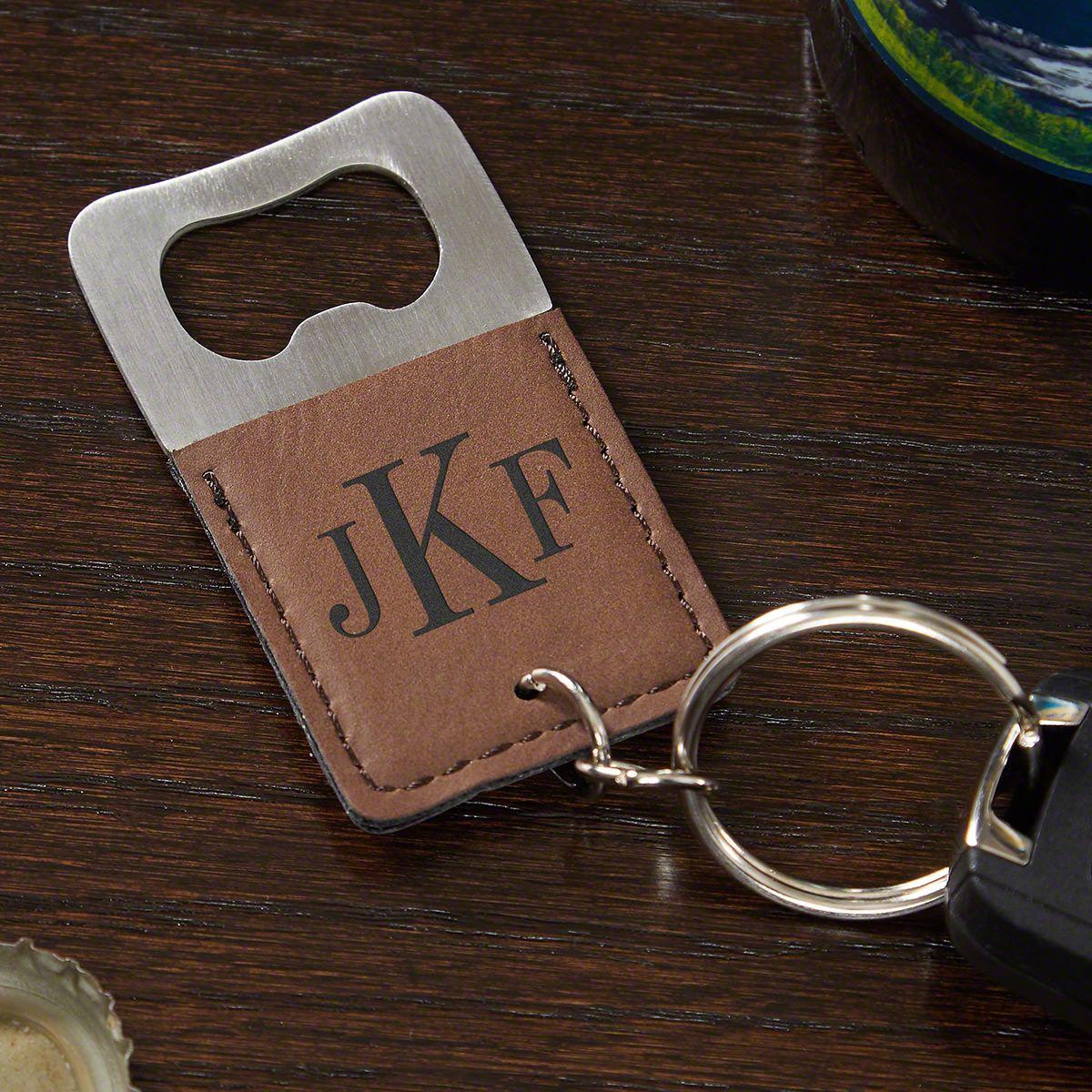 Classic Monogram Personalized Keychain Bottle Opener