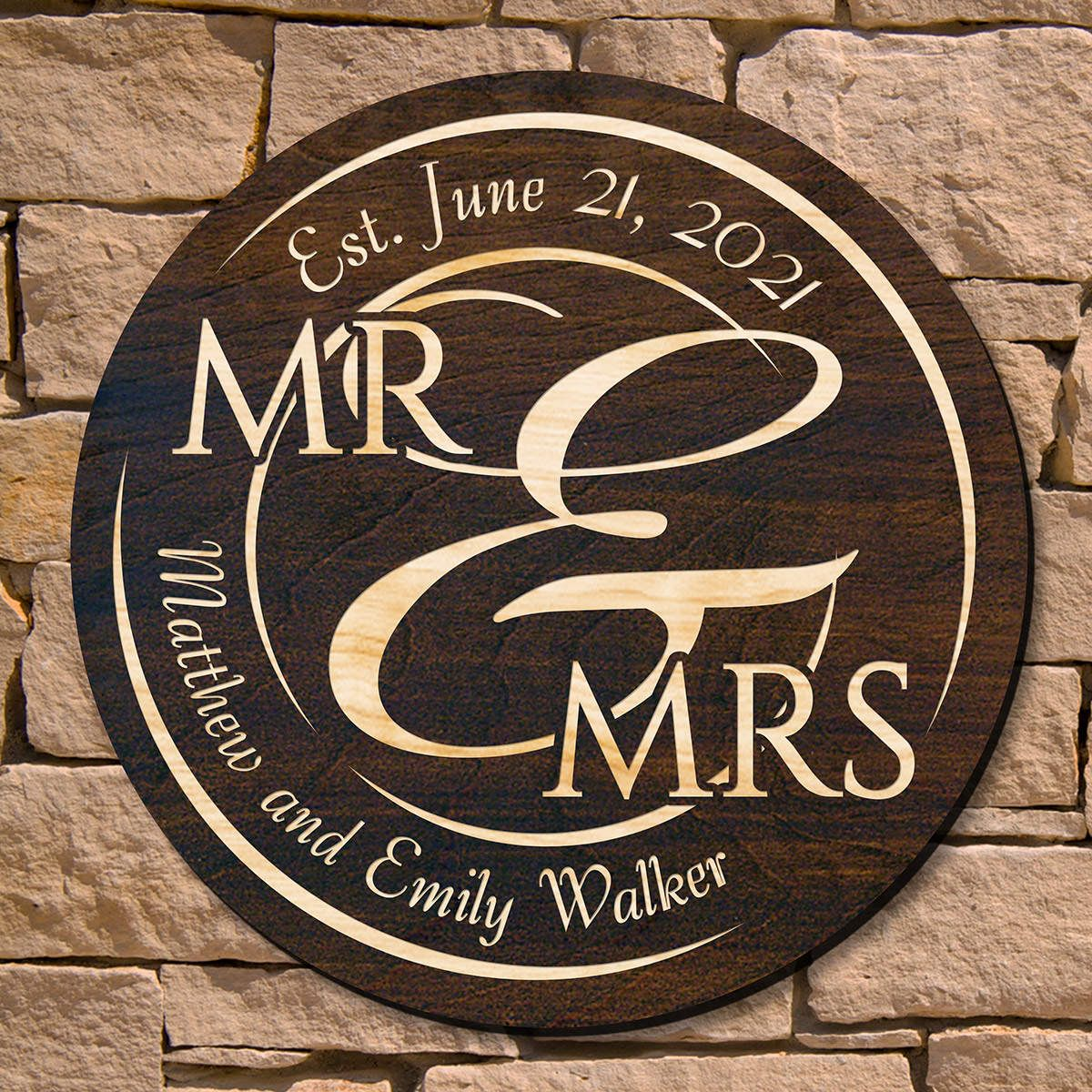 When Love Comes Together Personalized Wood Sign (Signature Series)