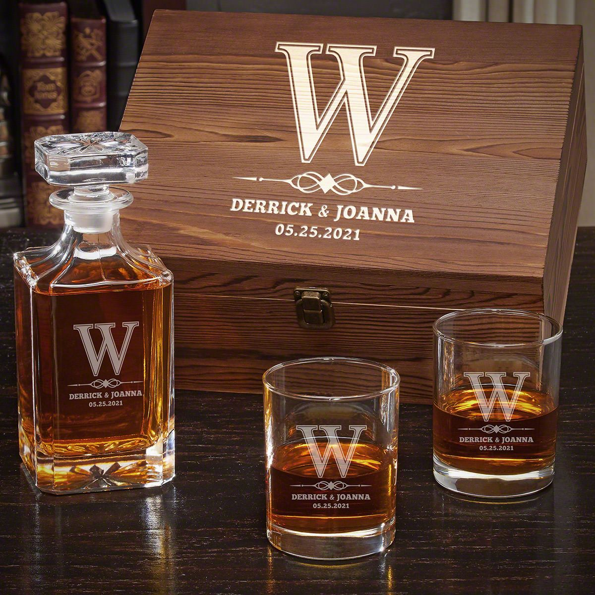 Lyndhurst Carson Personalized Decanter Set with Eastham Glasses