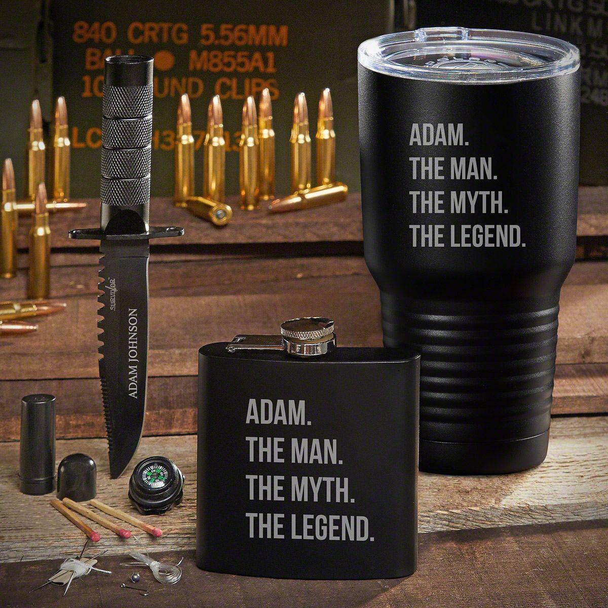 Spec Ops Man Myth Legend Personalized Gift Set for Men