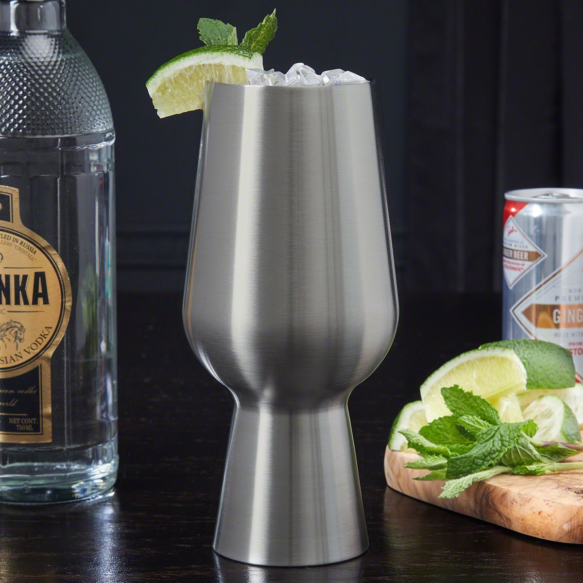 Stainless Steel Unique Cocktail Glass