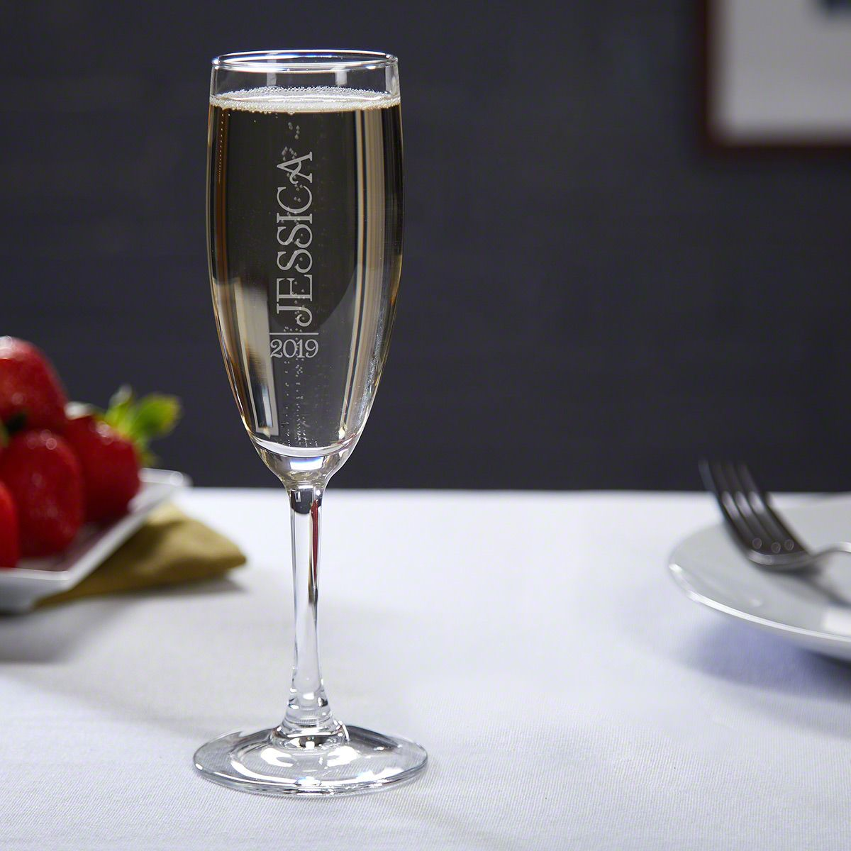 Jubilation Custom Champagne Glass