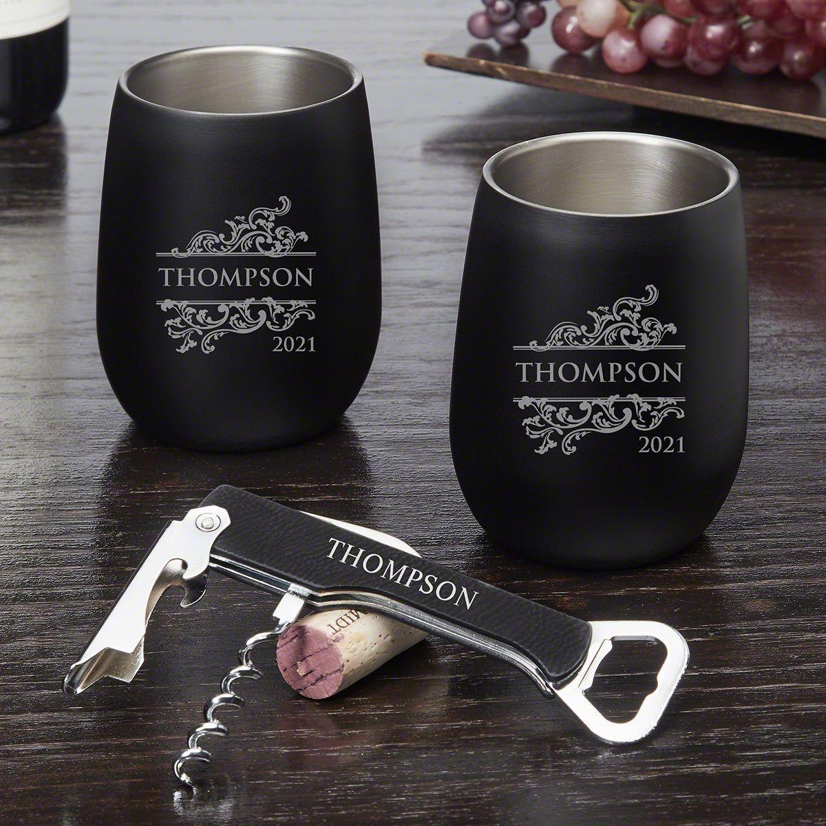 Livingston Personalized Wine Tumbler Gift Set