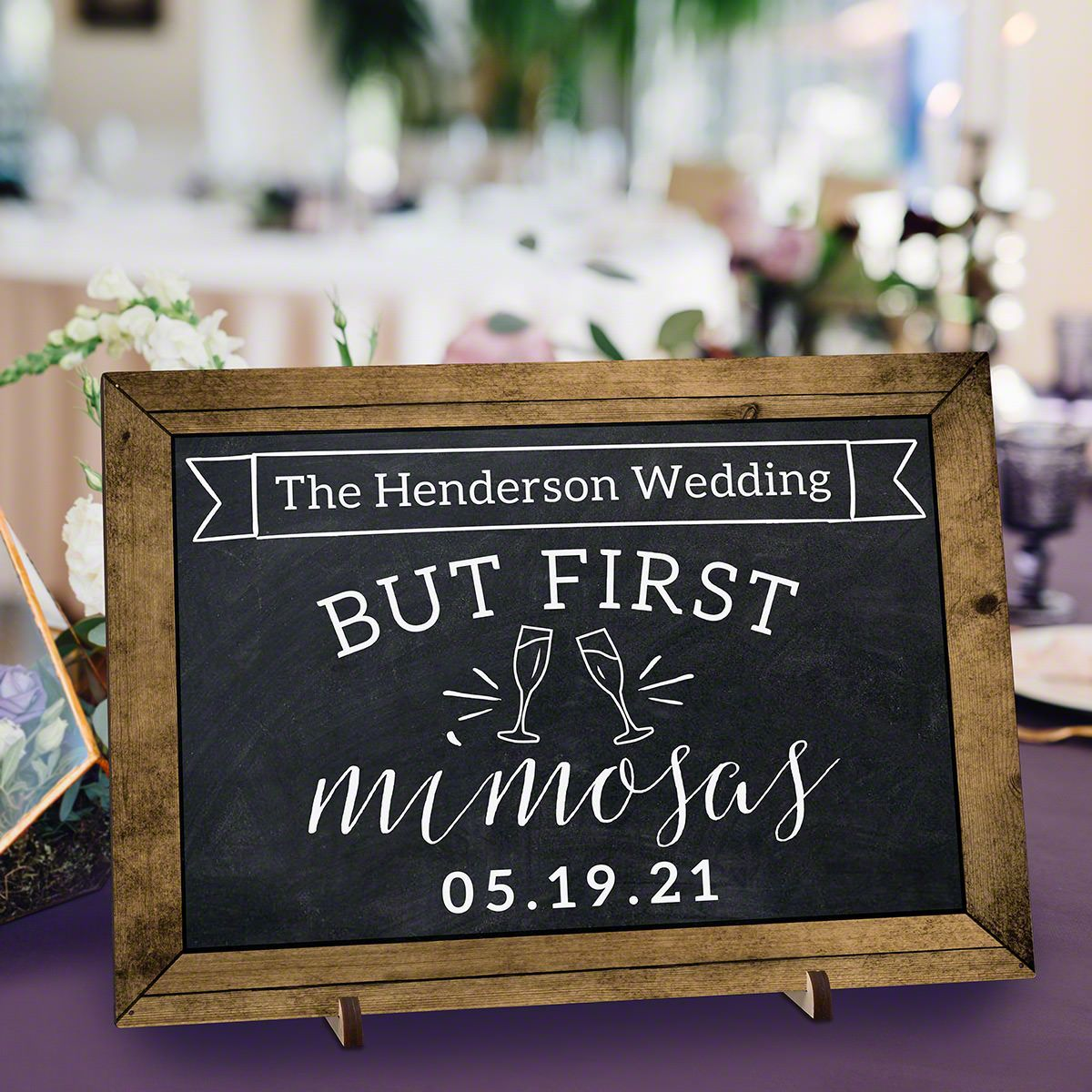 Wooden Custom Mimosa Bar Sign For Weddings