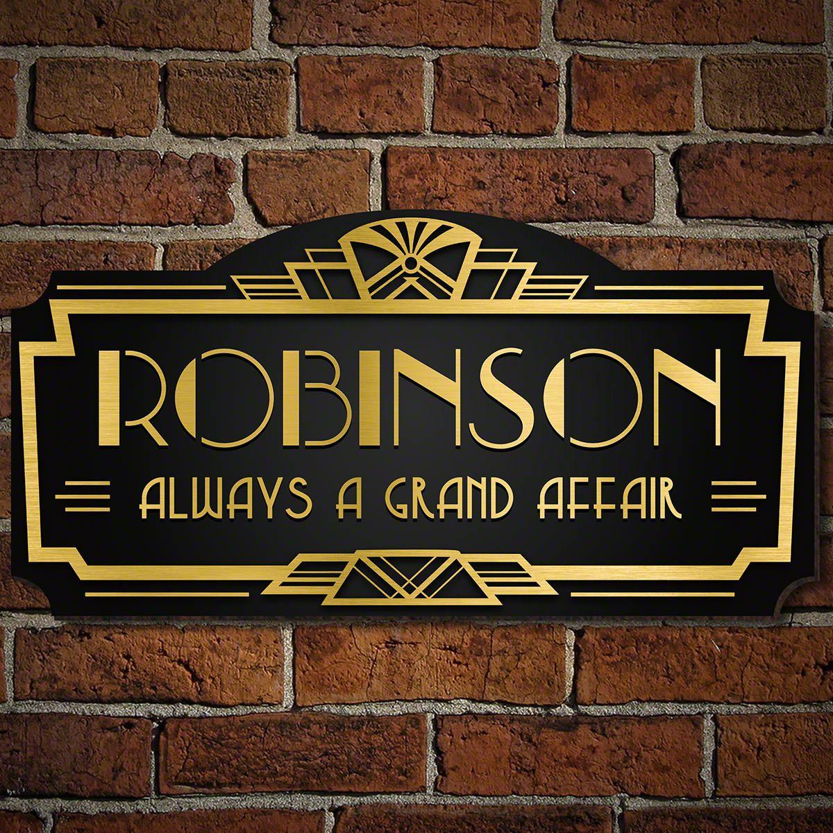 Great Gatsby Custom Sign