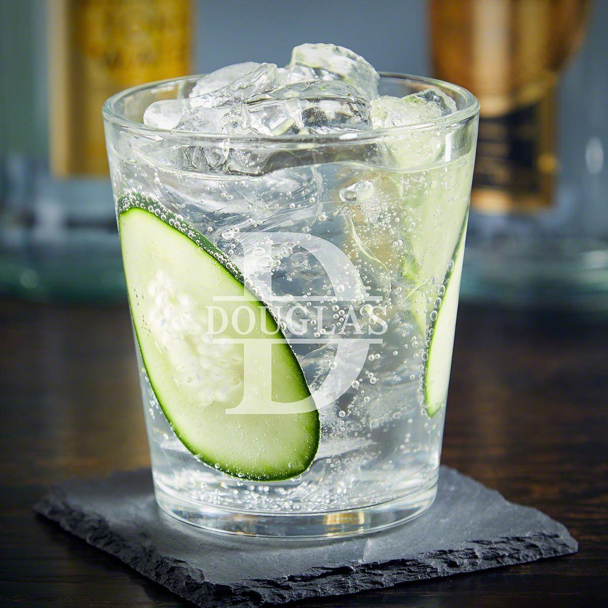 Oakmont Engraved Gin Glass for Cocktails