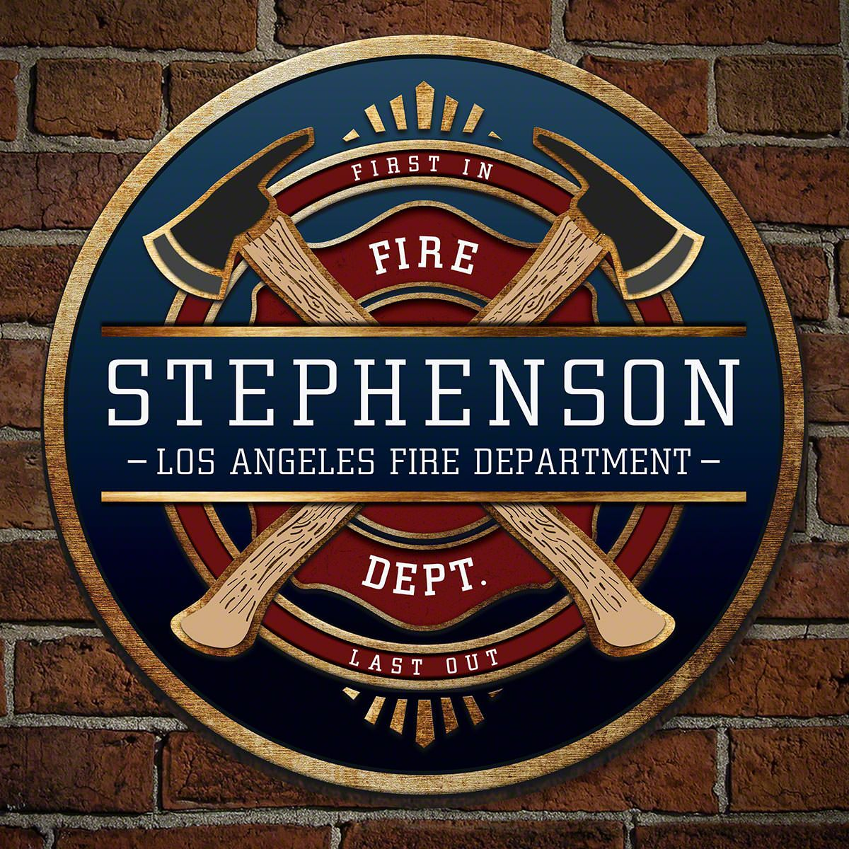 FireFighter Brotherhood Personalized