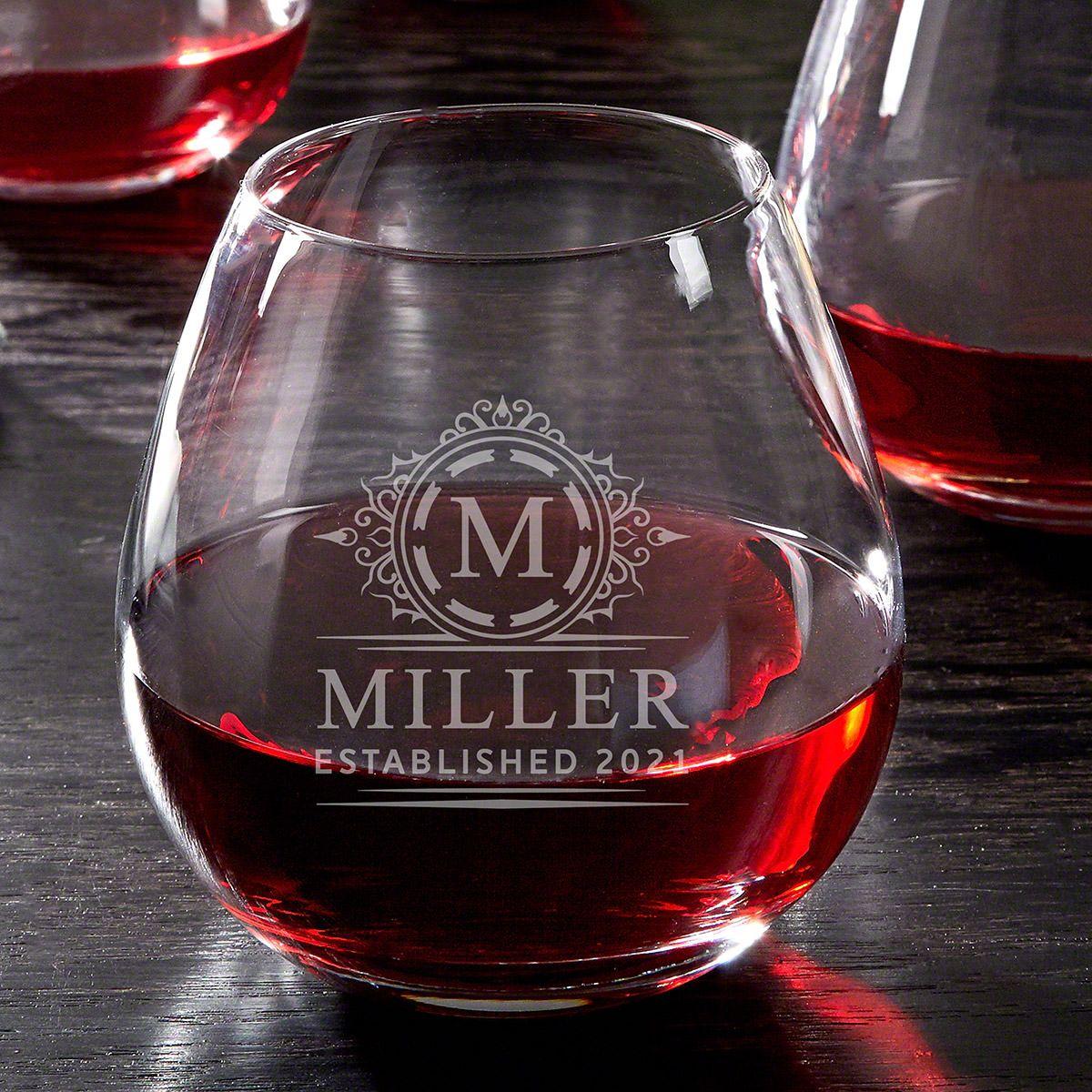 Hamilton Personalized Wine Glass