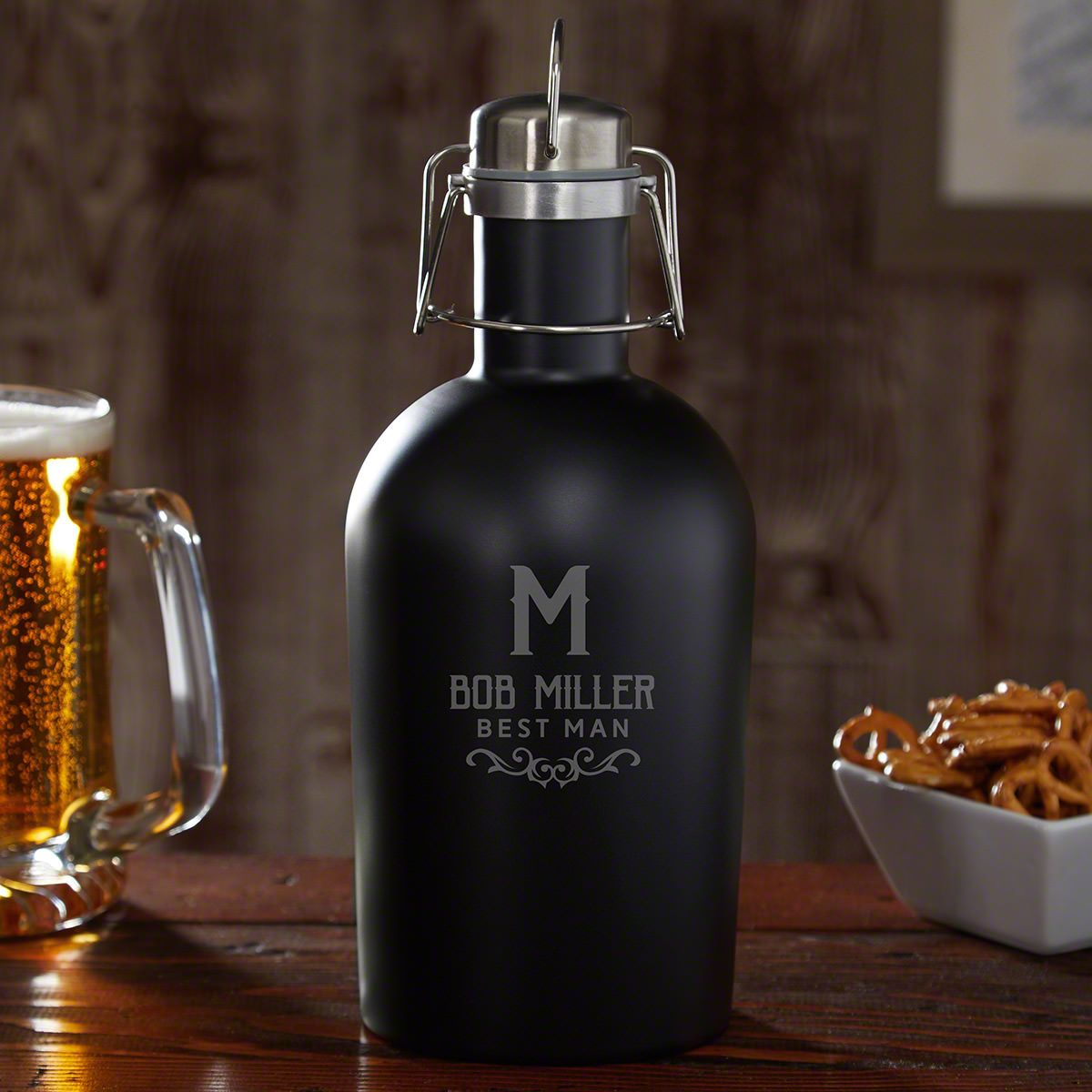 Warwick Personalized Blackout Beer Growler
