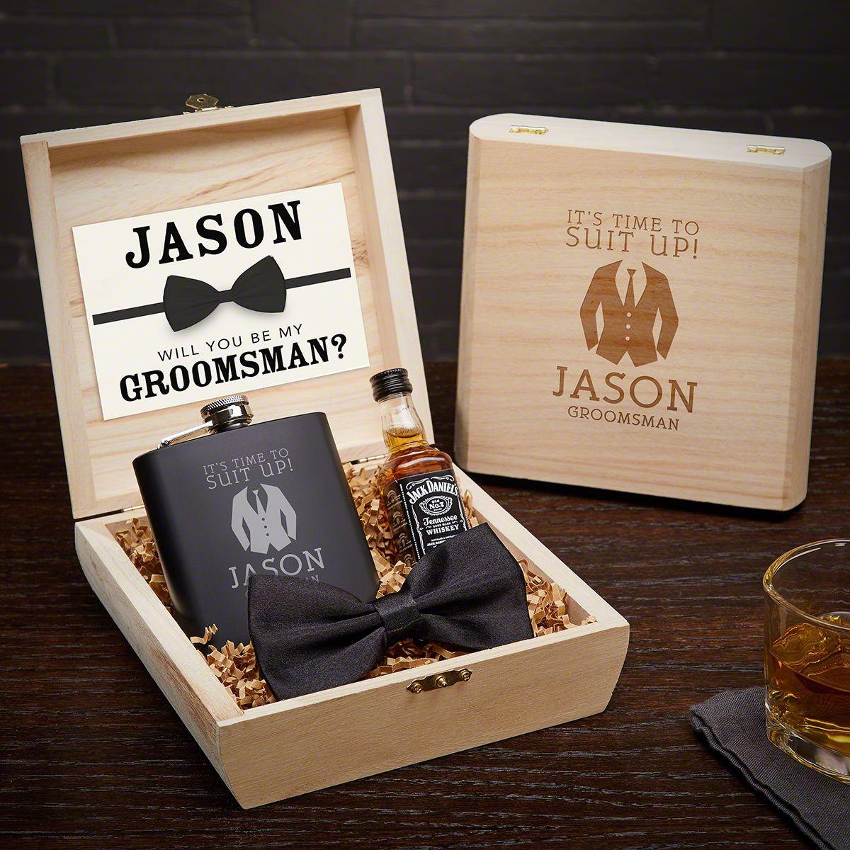 Suit Up Custom Groomsman Proposal Gift Box