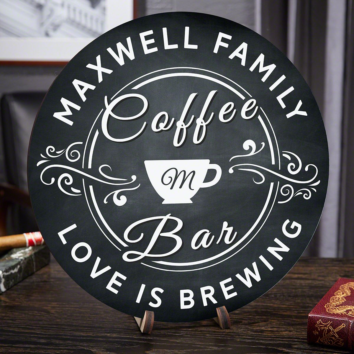 Love Is Brewing Personalized Coffee Bar Sign
