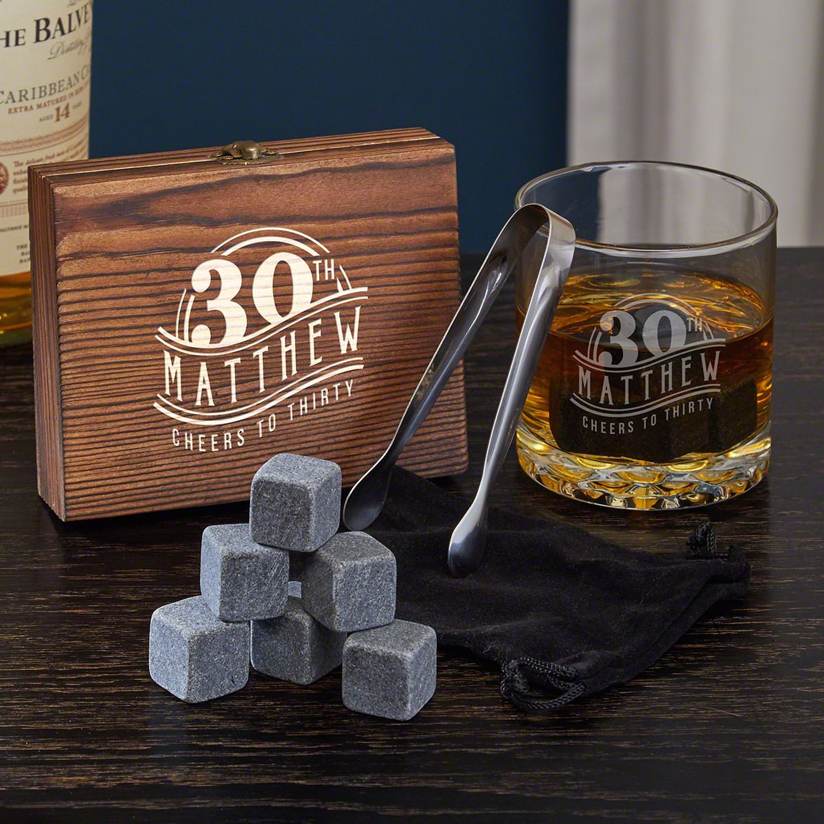 The Big 3-Oh Personalized Buckman Whiskey Themed 30th Birthday Gifts