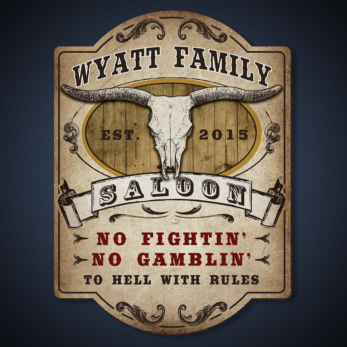 Western Grit Custom Saloon Sign