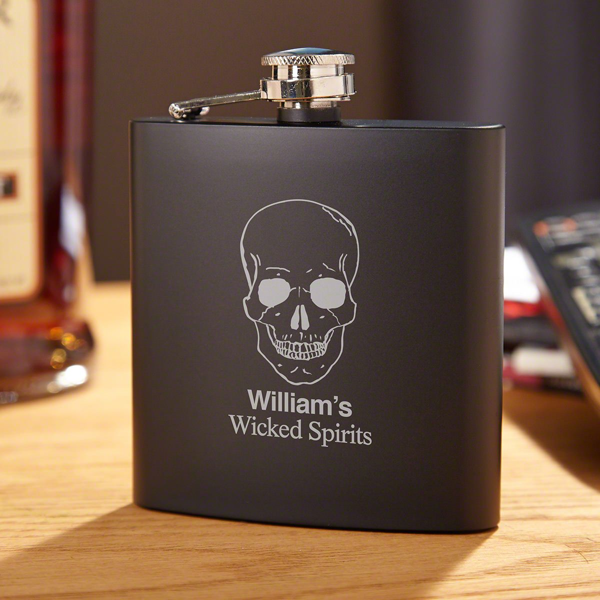 Phantom Skull Personalized Flask