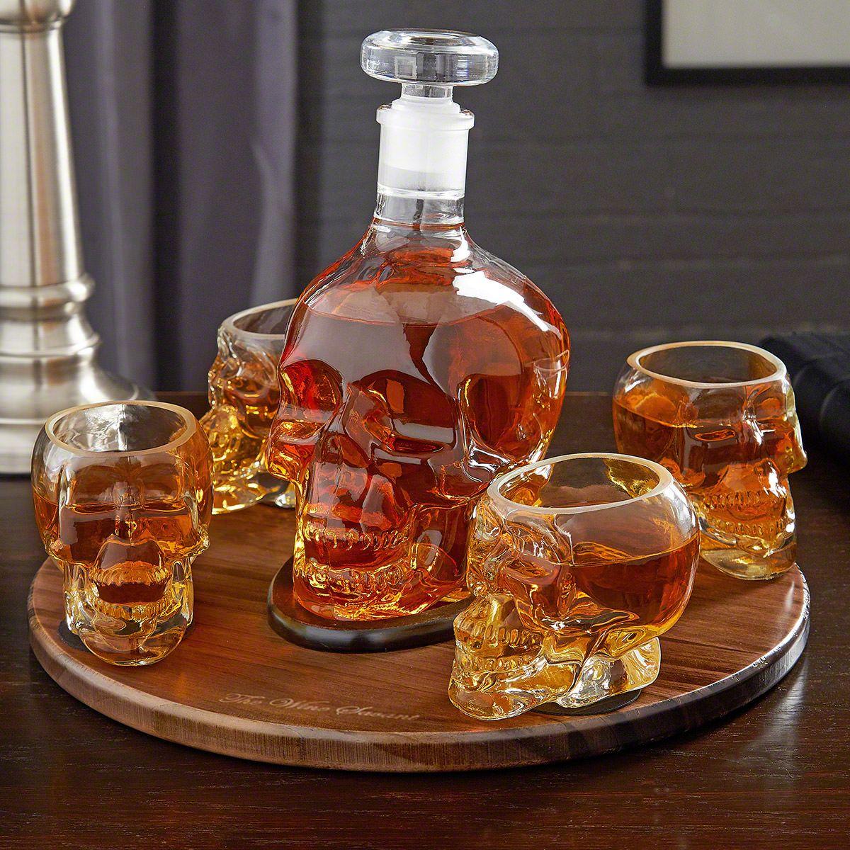 Skull Liquor Decanter Set