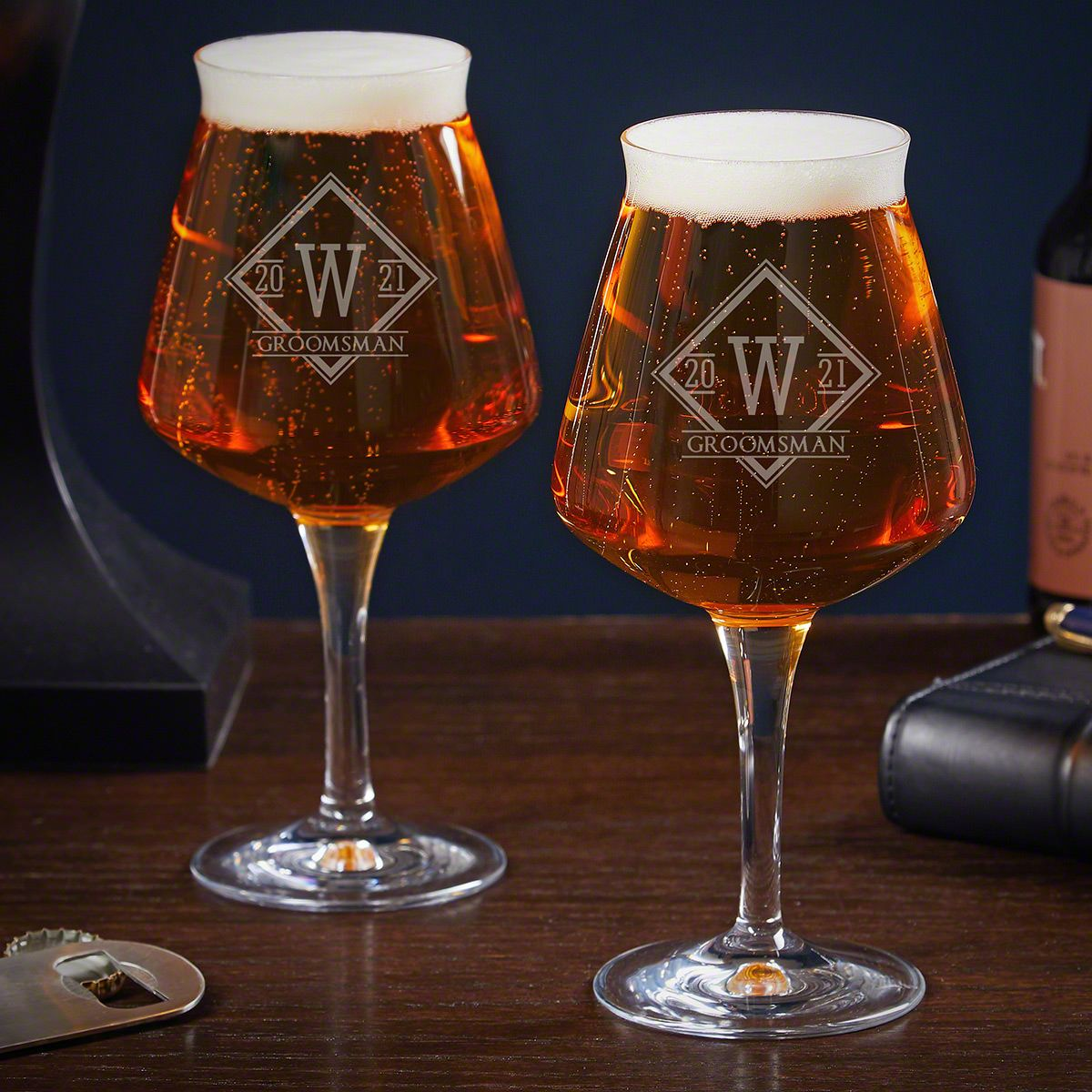 Drake Personalized Teku Glasses Set of 2