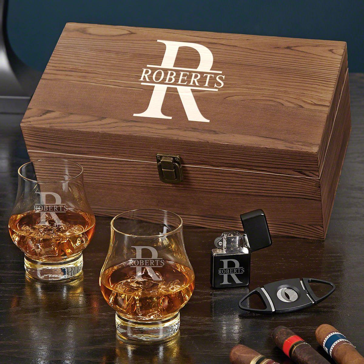 Oakmont Wescott Double Snifter Whiskey and Cigar Gift Set