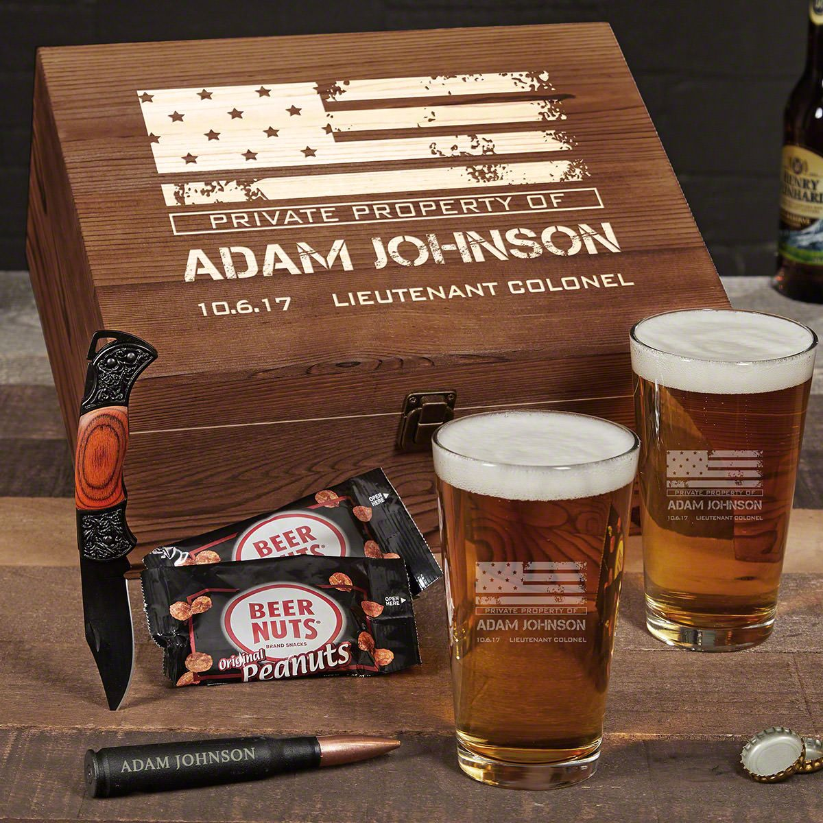 American Heroes Personalized Beer Military Gifts