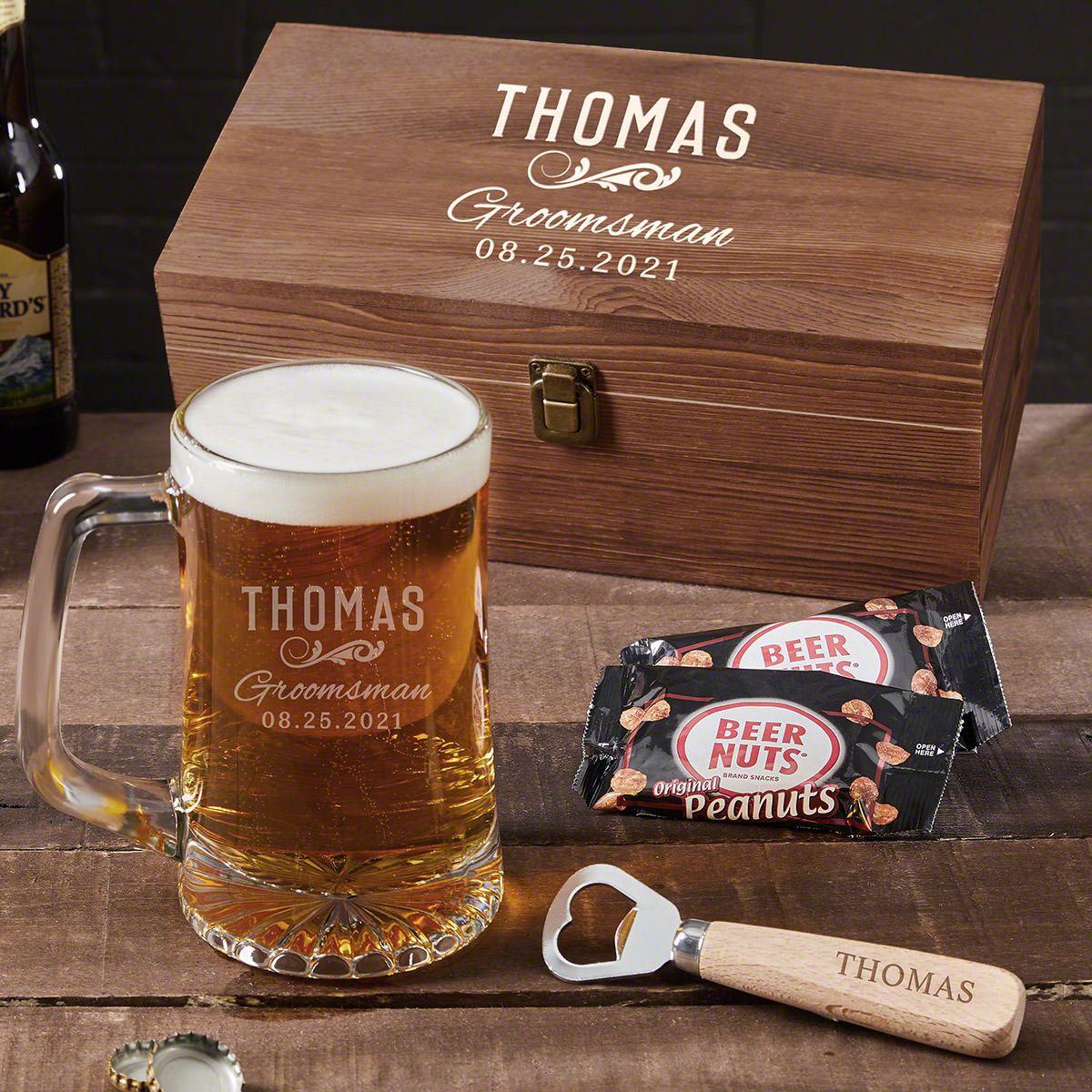 Classic Groomsman Engraved Set of Beer Groomsmen Gifts
