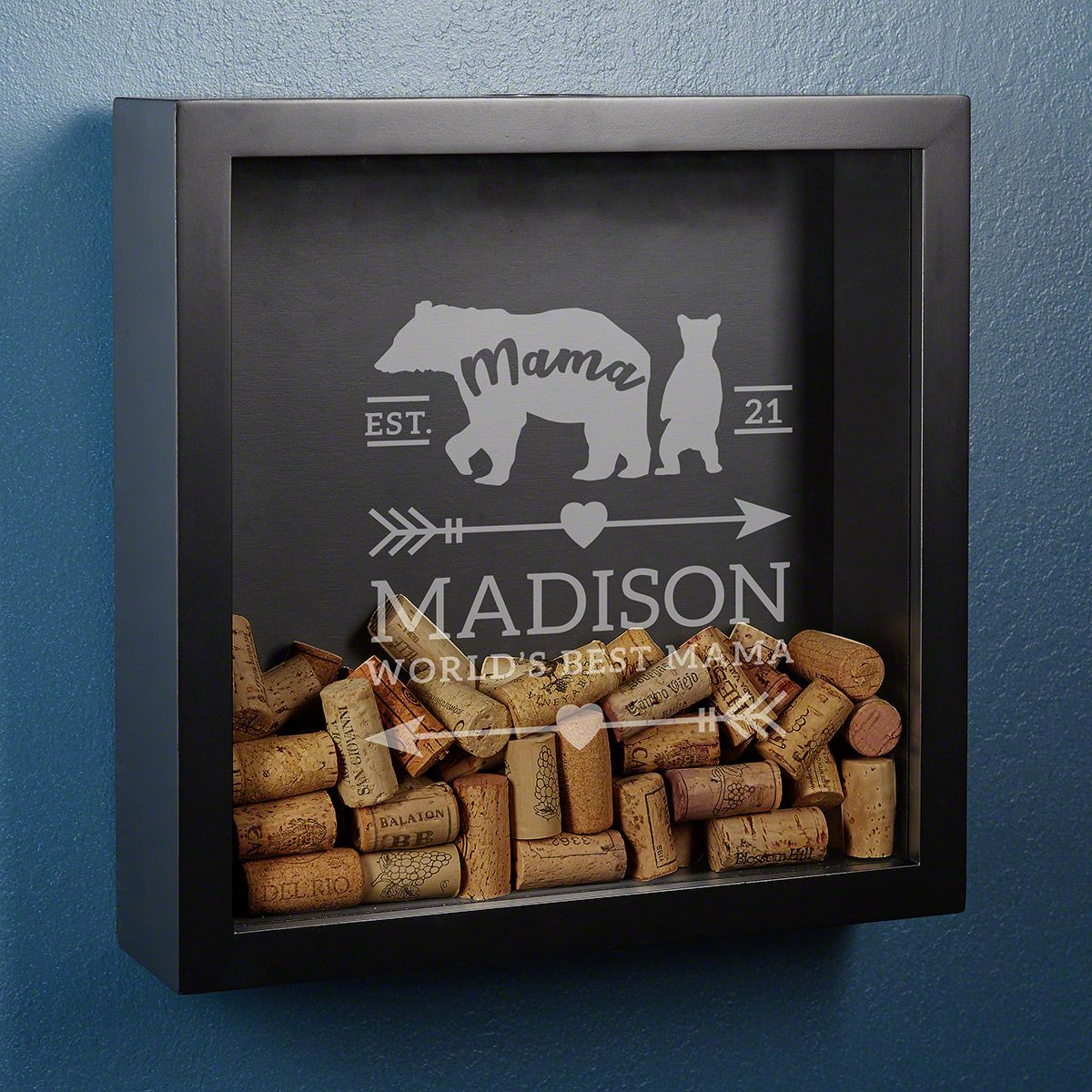 Mama Bear Personalized Shadow Box Gift for Mom