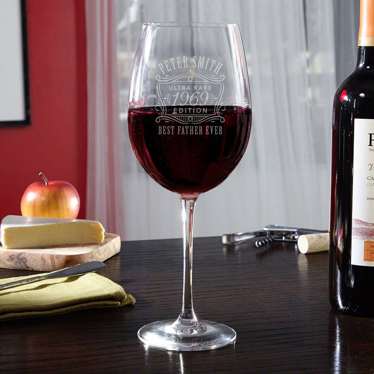 Ultra Rare Edition Personalized Wine Glass