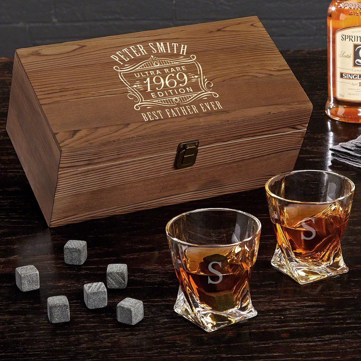 Ultra Rare Edition Personalized Whiskey Gift Box
