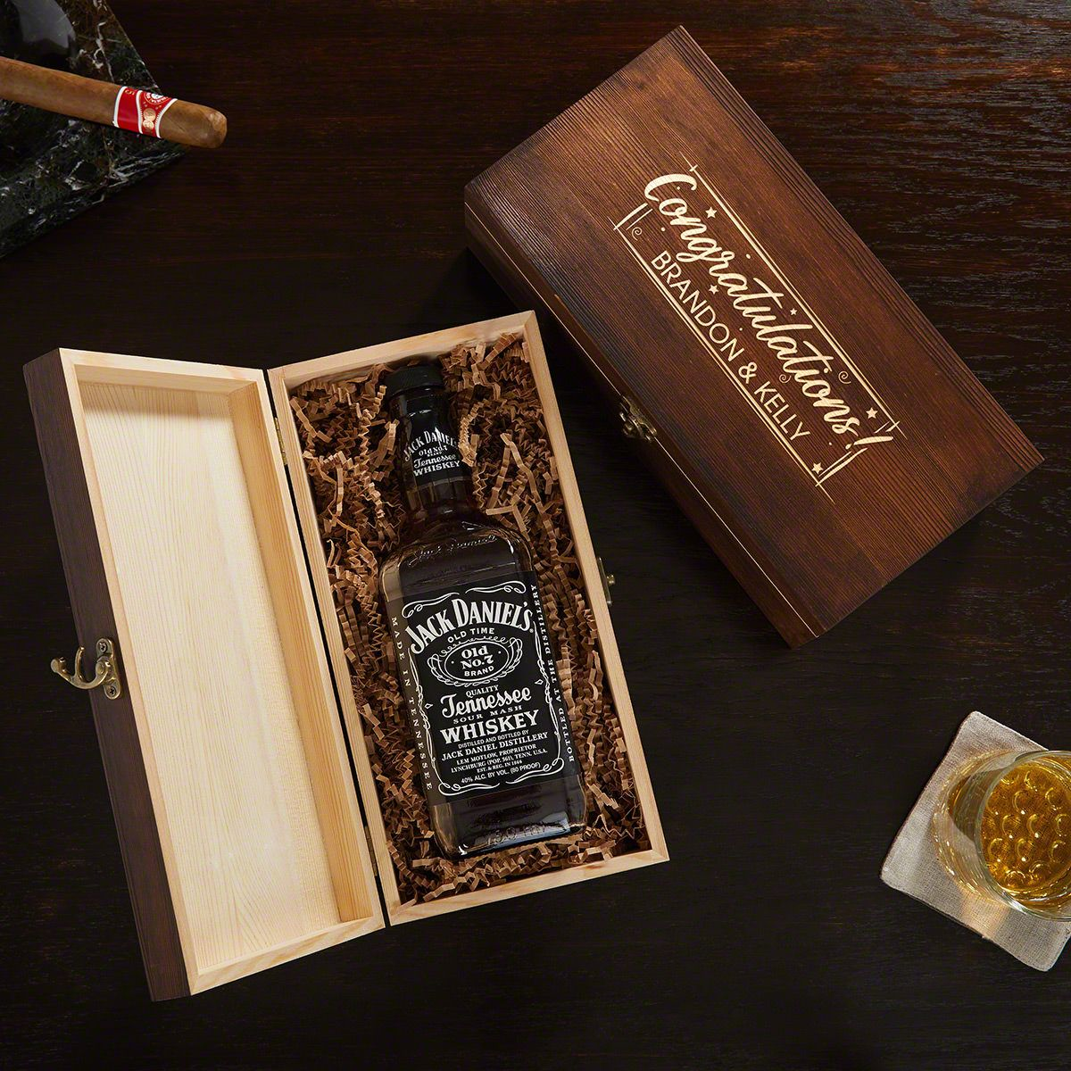 Time to Celebrate Engraved Box Congratulations Gift for Him