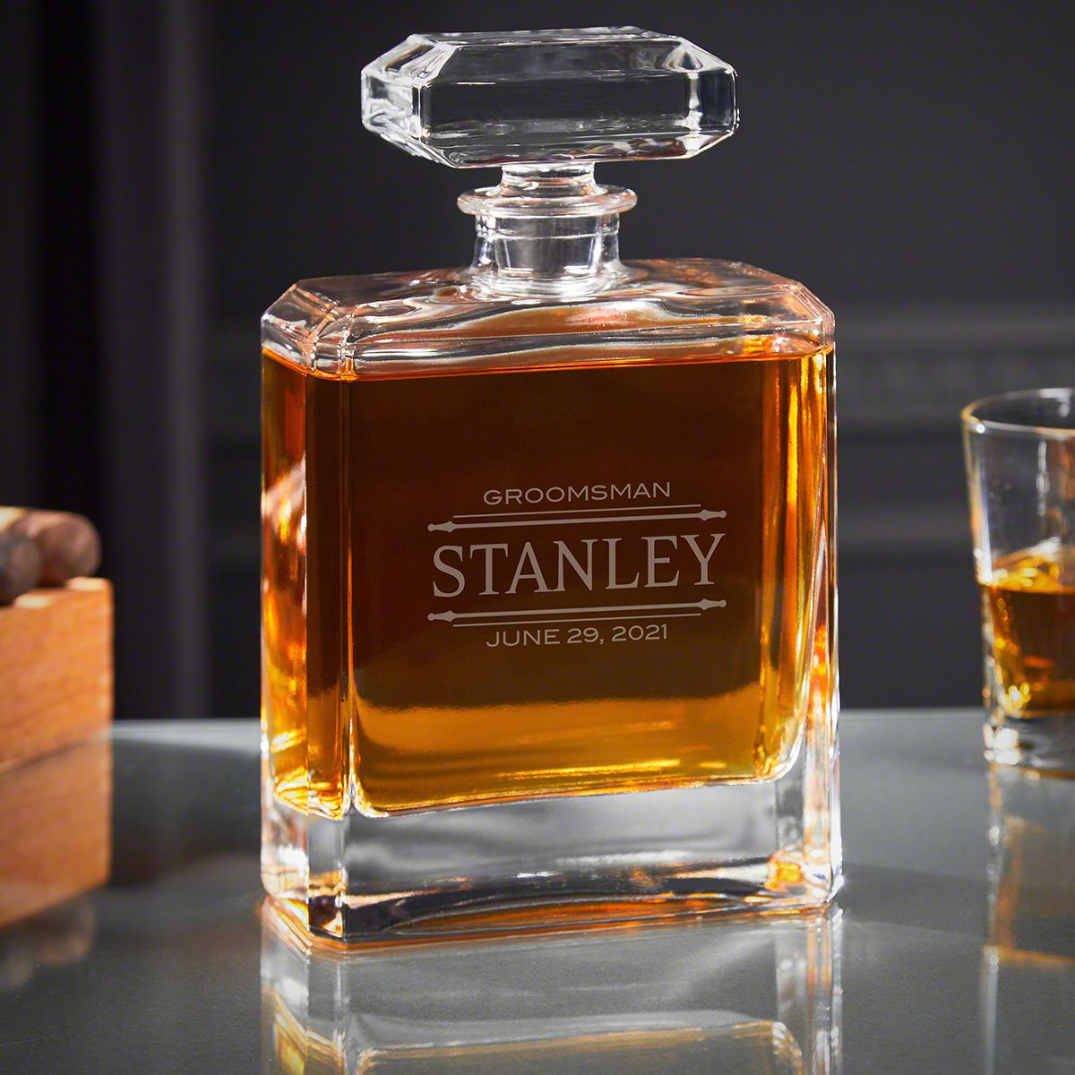 Stanford Engraved Cromwell Whiskey Decanter