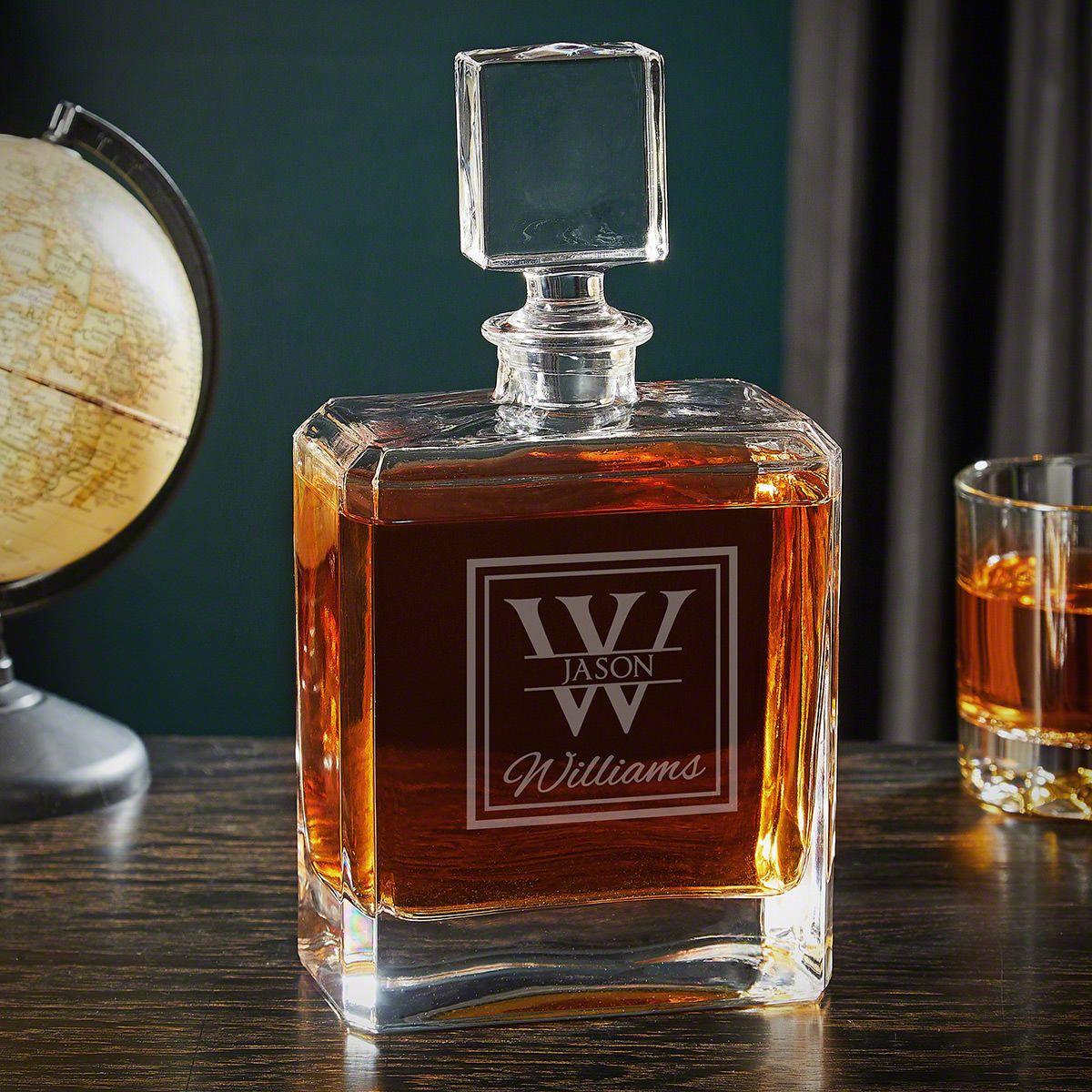 Oakhill Engraved Cromwell Liquor Decanter