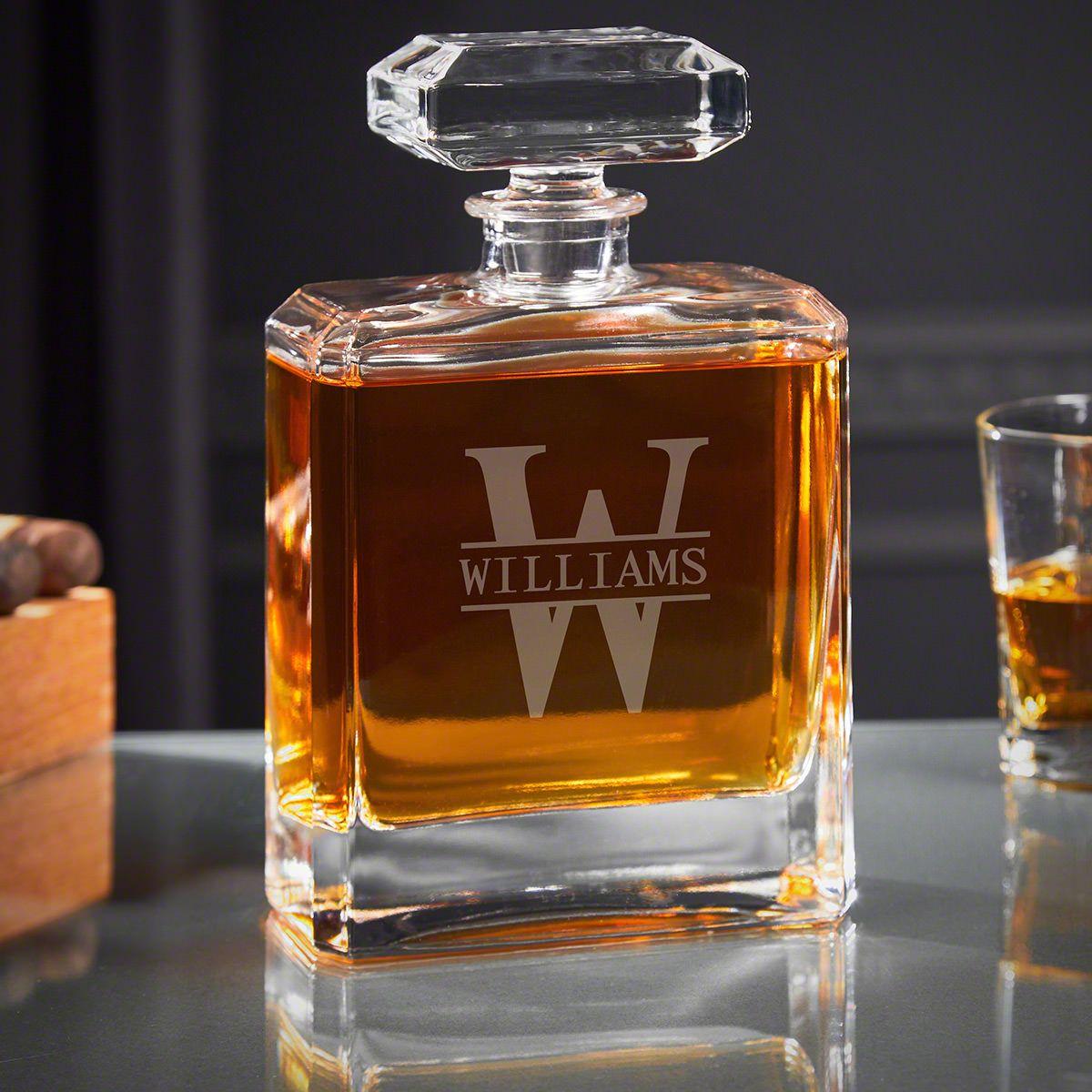 Oakmont Engraved Cromwell Whiskey Decanter