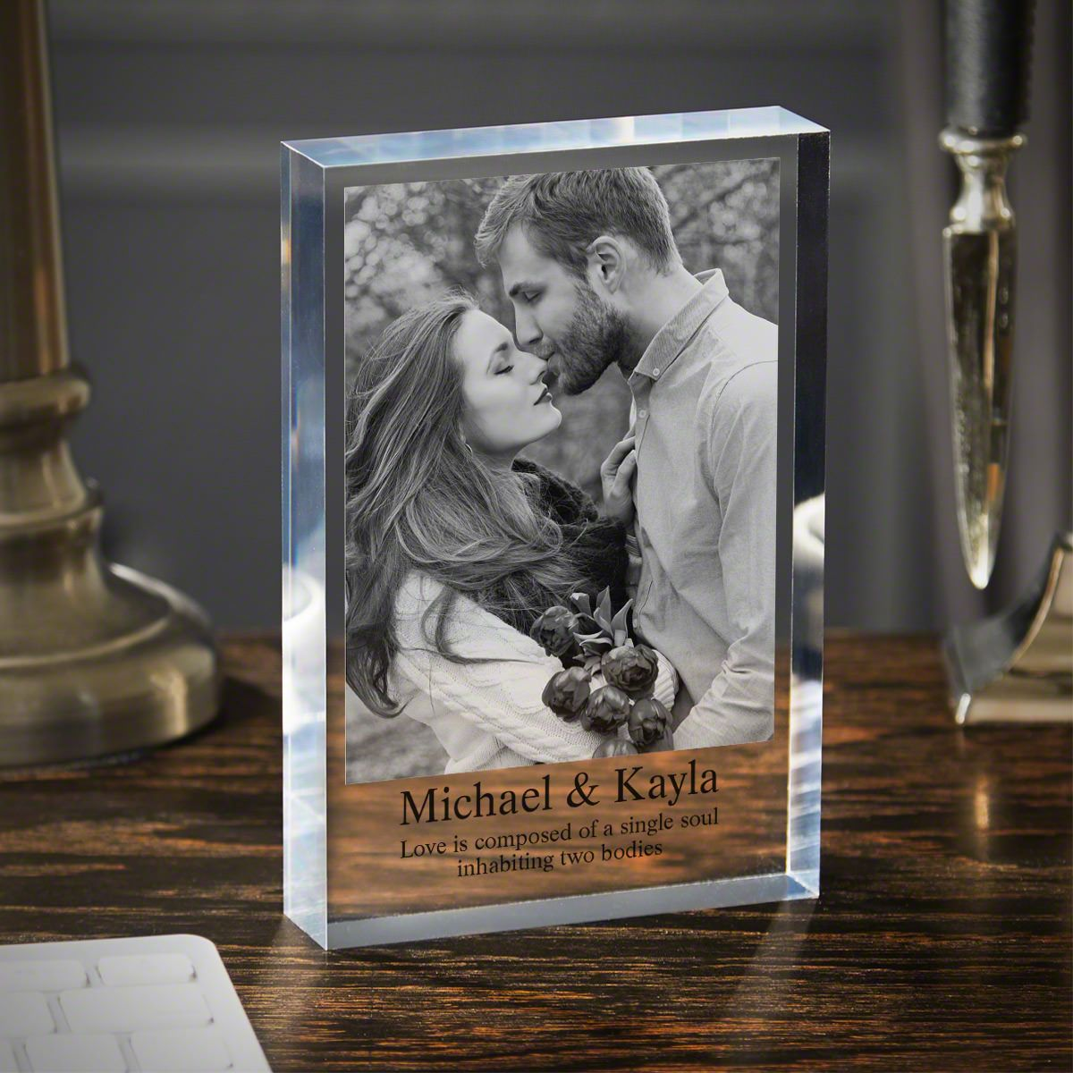 Let's Get Married Personalized Acrylic Block Engagement Gift 5x7