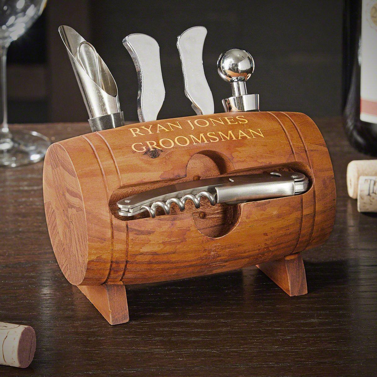 Personalized Barrel Wine Tool Set