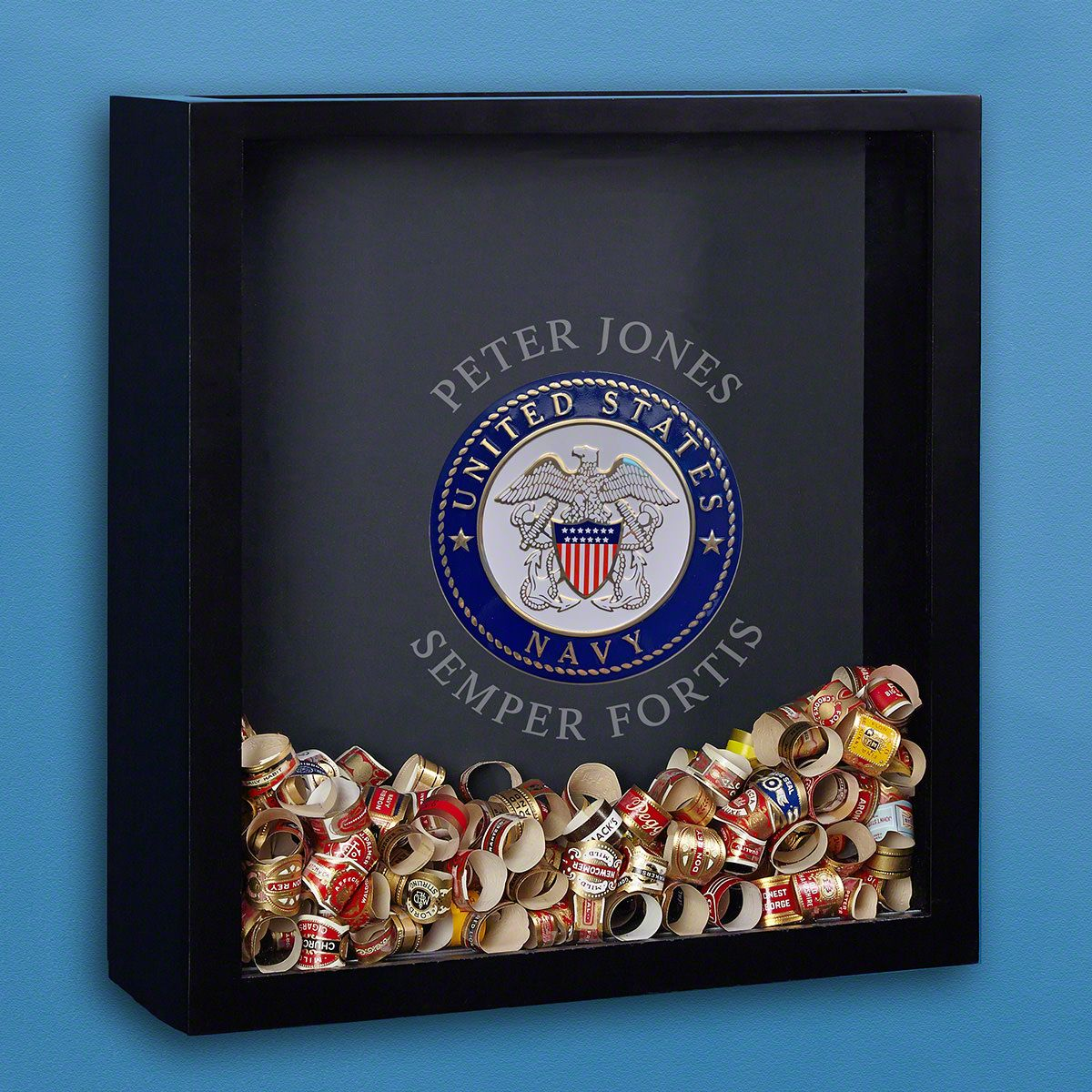 Navy Customized Shadow Box Gift for Navy