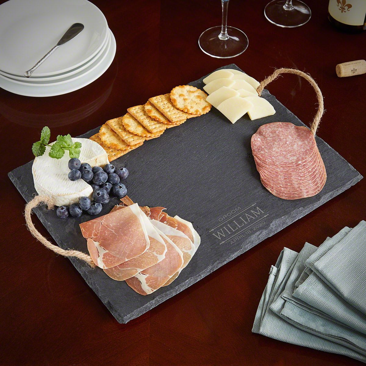 Stanford Slate Personalized Cheese Board