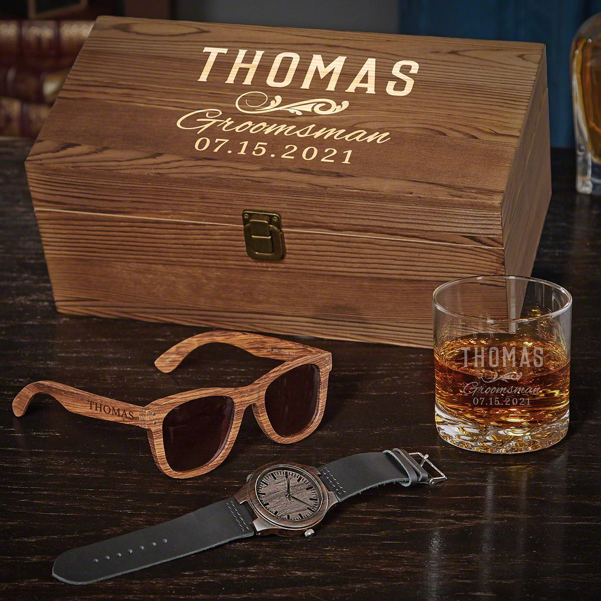 Classic Groomsman Engraved Groomsmen Gift Box Set