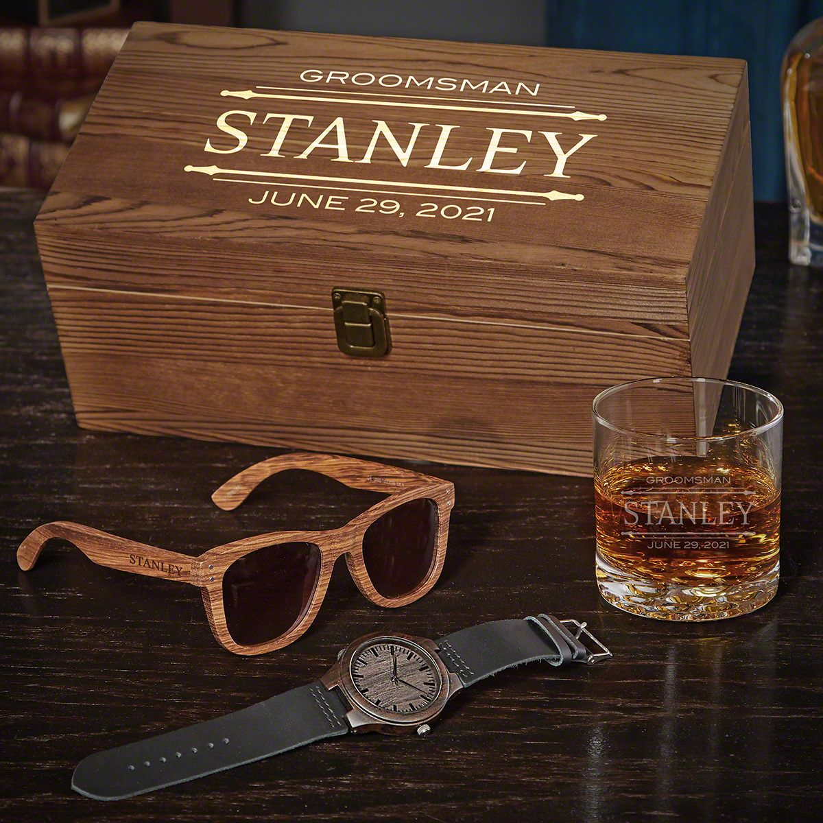 Stanford Custom Box Set of Unique Groomsmen Gifts