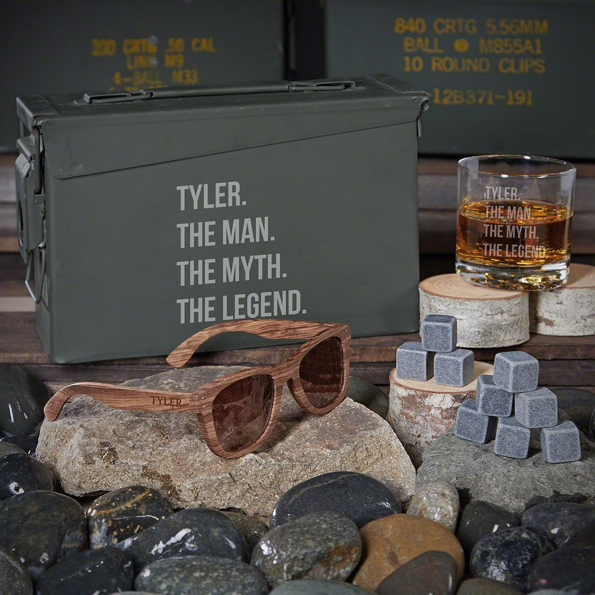 Man Myth Legend Custom 30 Cal Groomsmen Gift Box