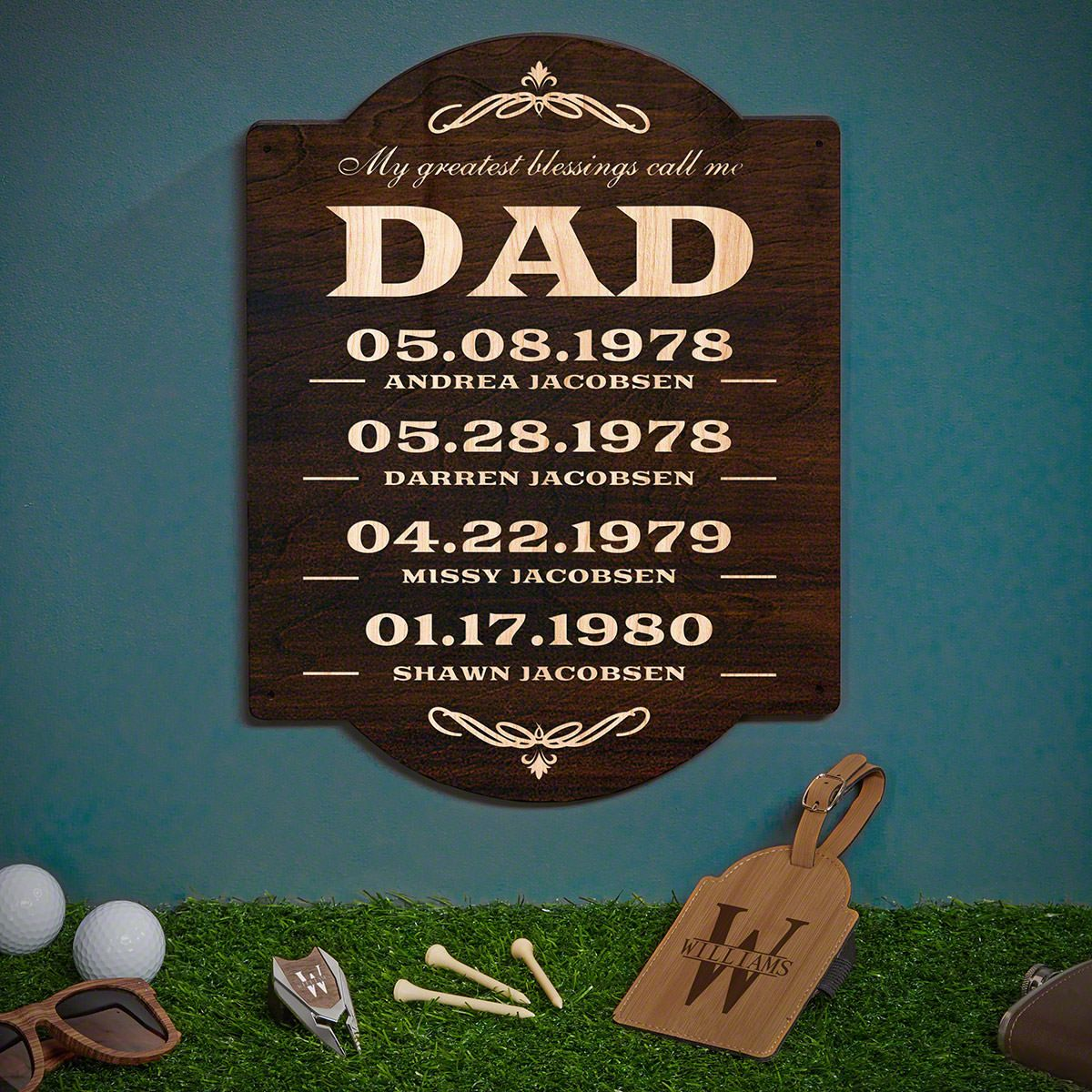 Dad's Greatest Blessings (Signature Series) Oakmont Custom Golf Gifts for Dad