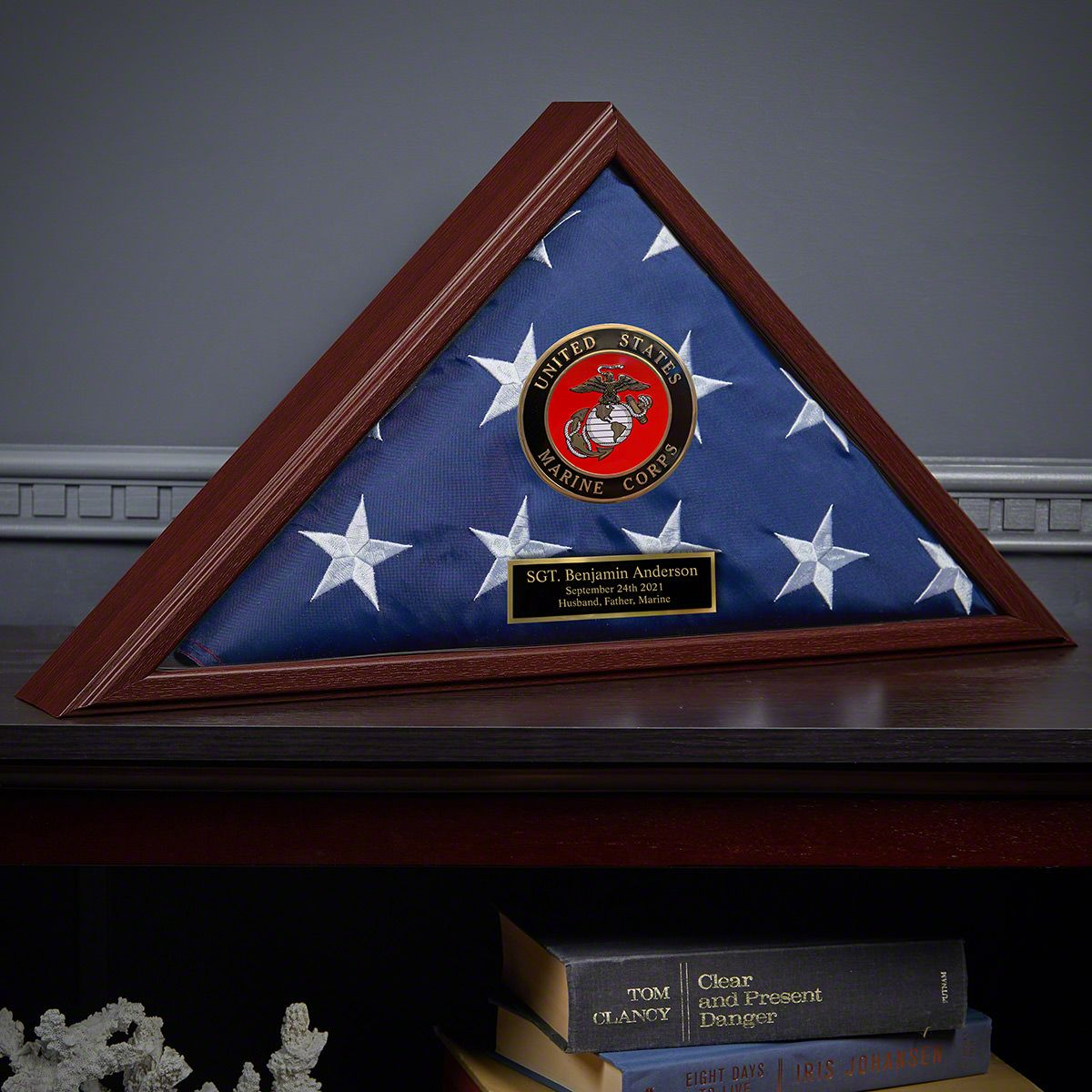 Custom Cherry Flag Case US Marine Corps Gift