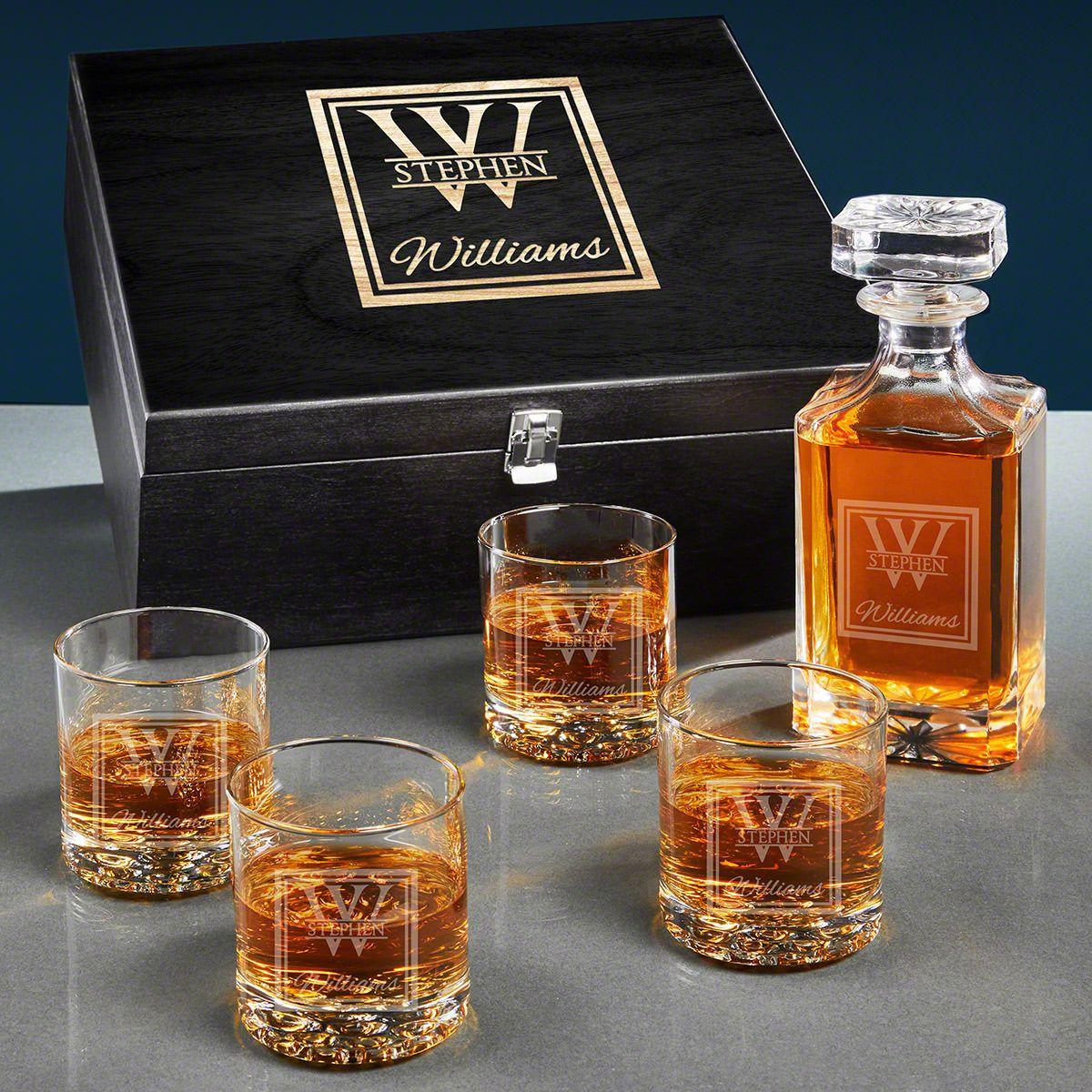 Oakhill Custom Carson Crystal Whiskey Decanter Set
