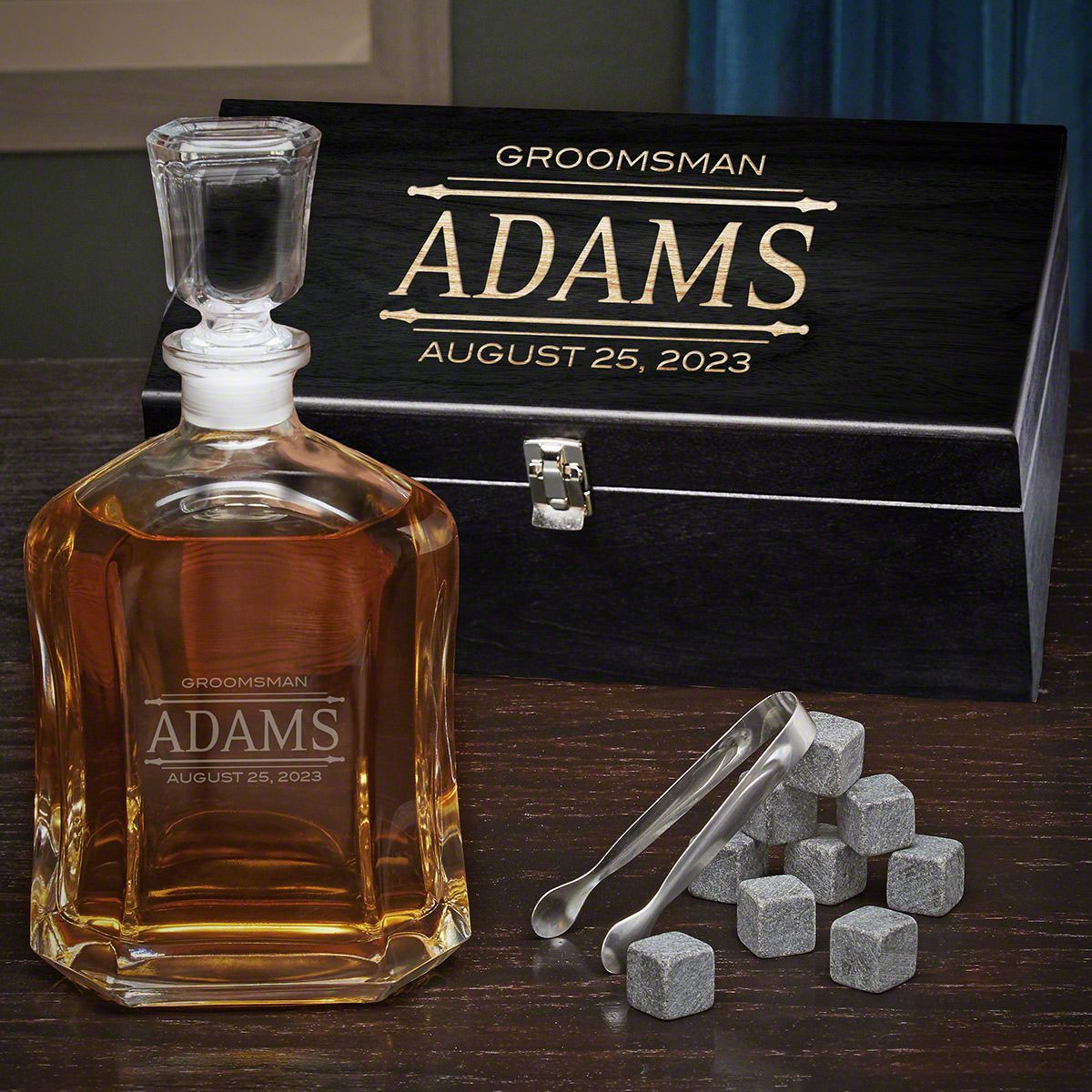 Stanford Custom Argos Whiskey Decanter Box Set