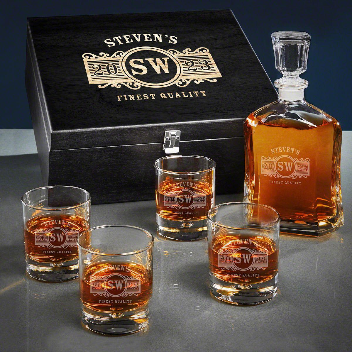 Marquee Custom Argos Whiskey Decanter Set
