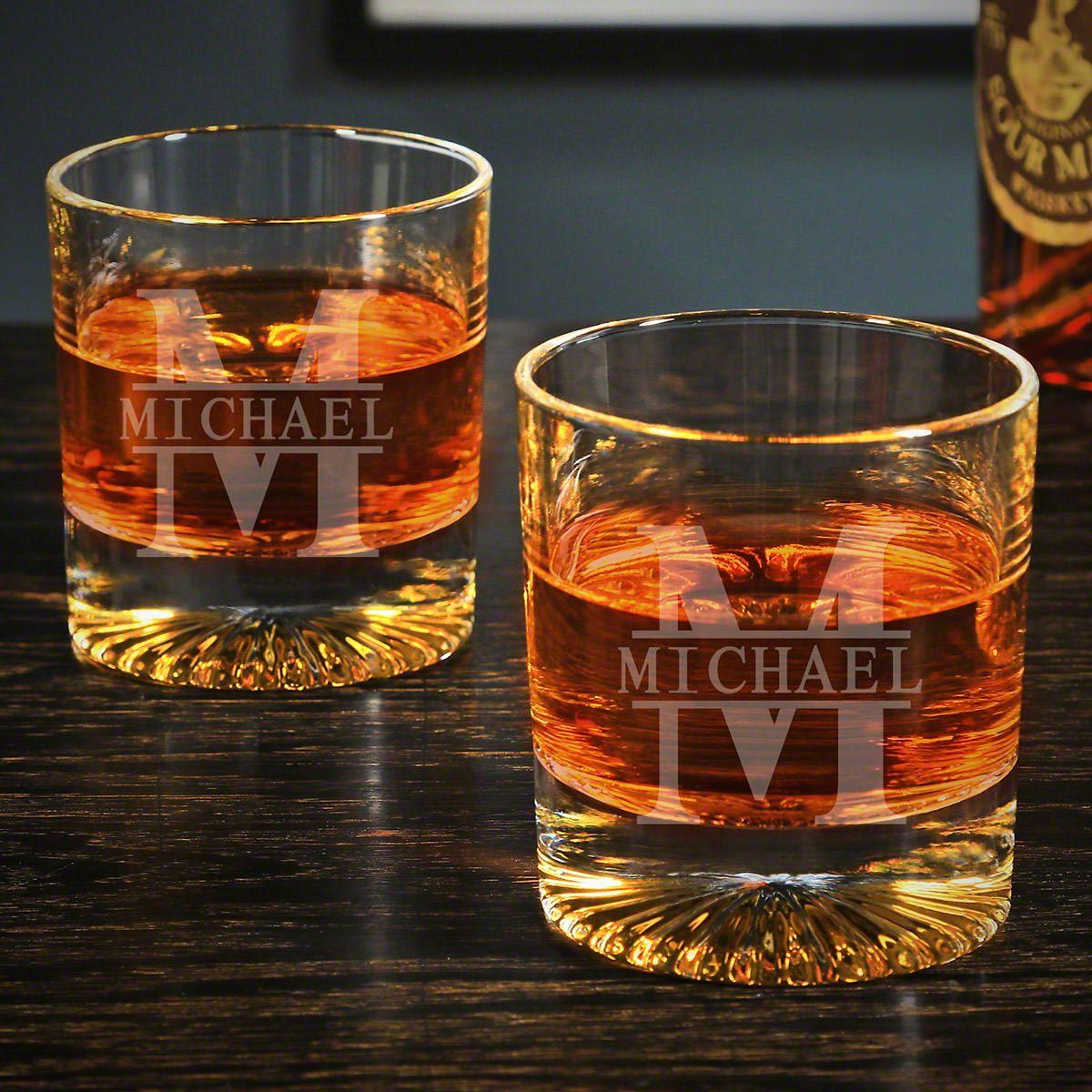 Oakmont Churchill Personalized Pair of Scotch Glasses