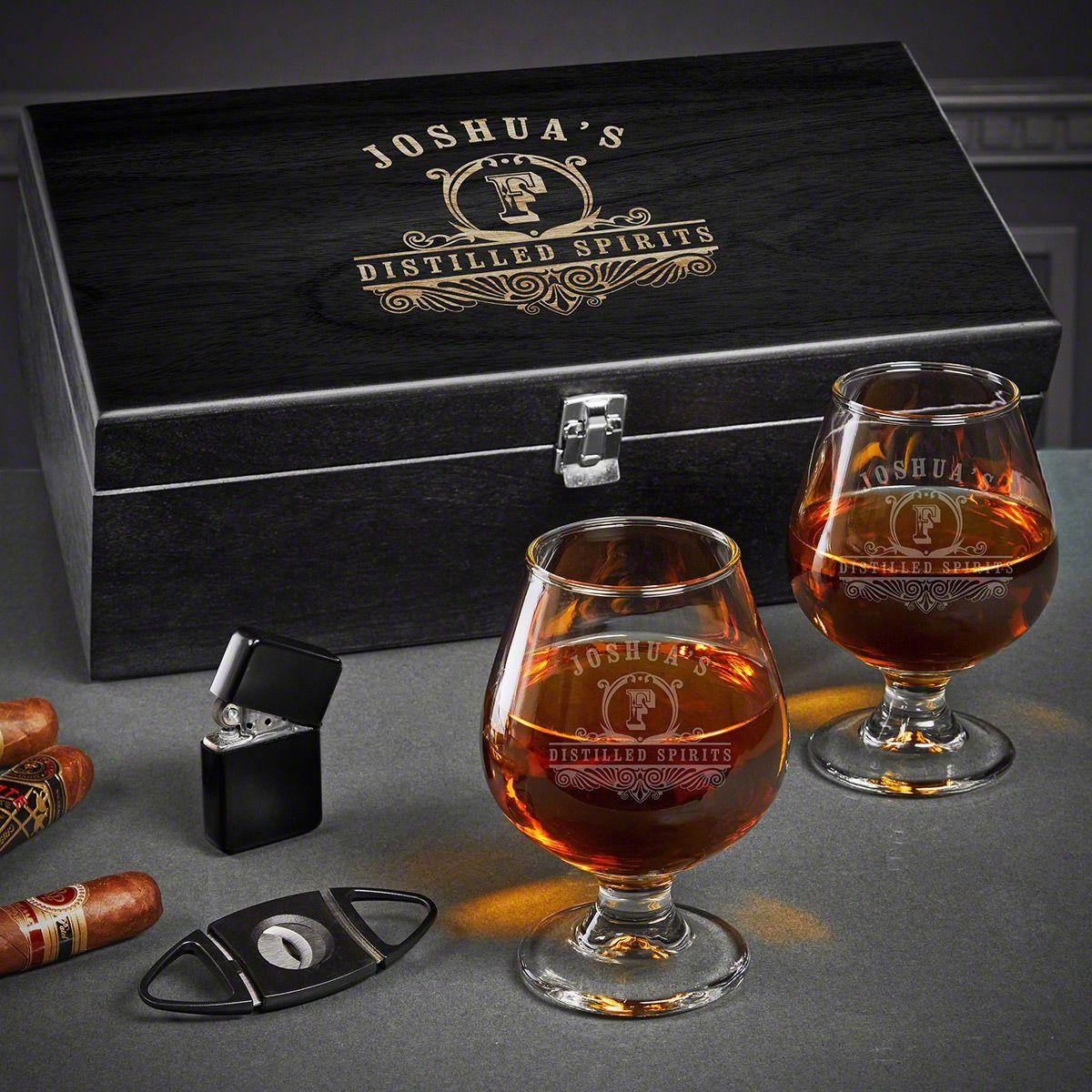 Carraway Engraved Cognac Gift Set