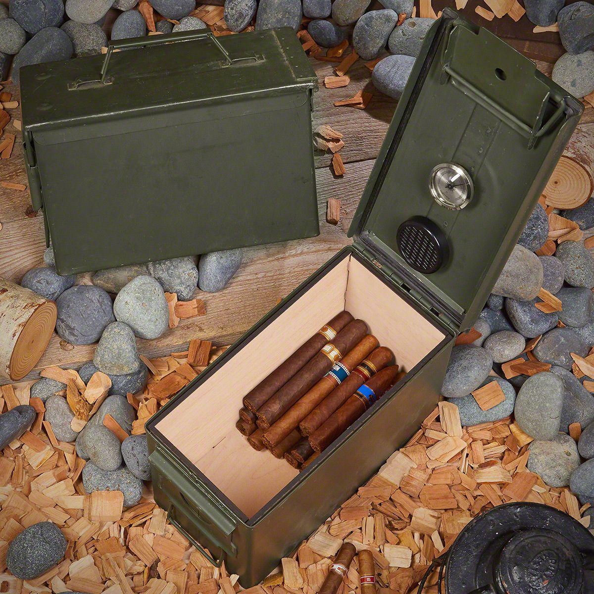 50 Cal Ammo Can Cigar Humidor