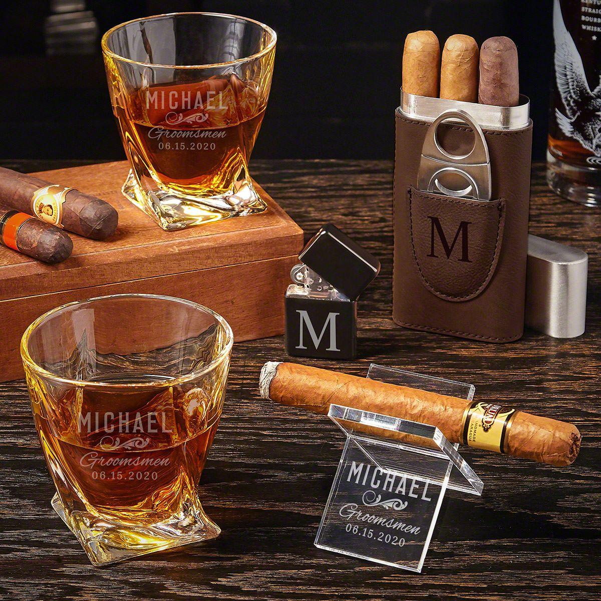 Classic Groomsman Custom Twist Groomsmen Cigar Gifts