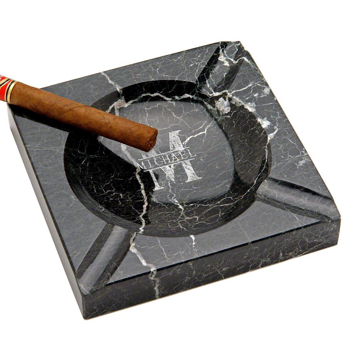 Oakmont Engraved Marble Cigar Ashtray