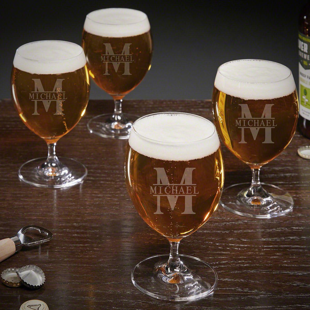 Oakmont Personalized Grand Craft Beer Glasses Set of 4